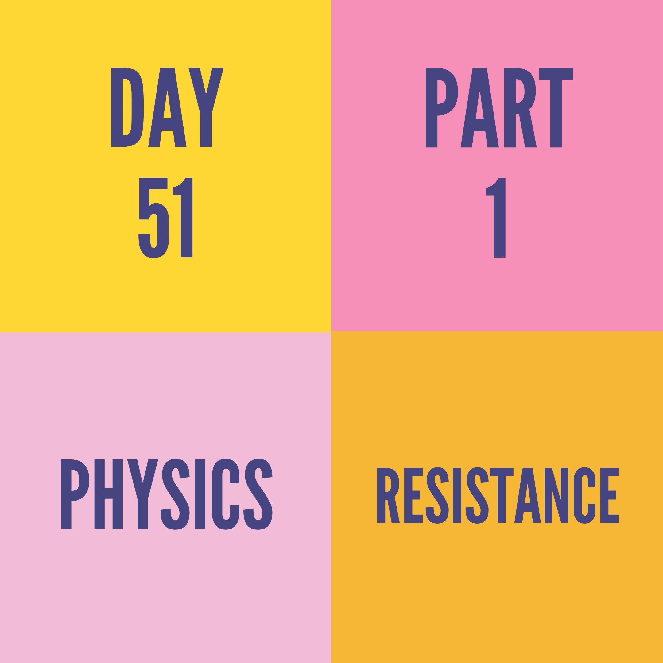 DAY-51 PART-1  RESISTANCE