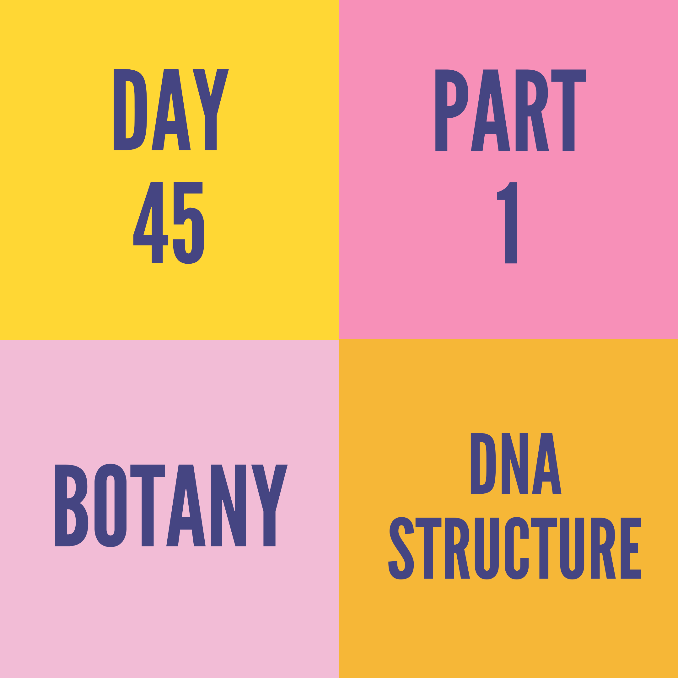 DAY-45 PART-1 DNA STRUCTURE
