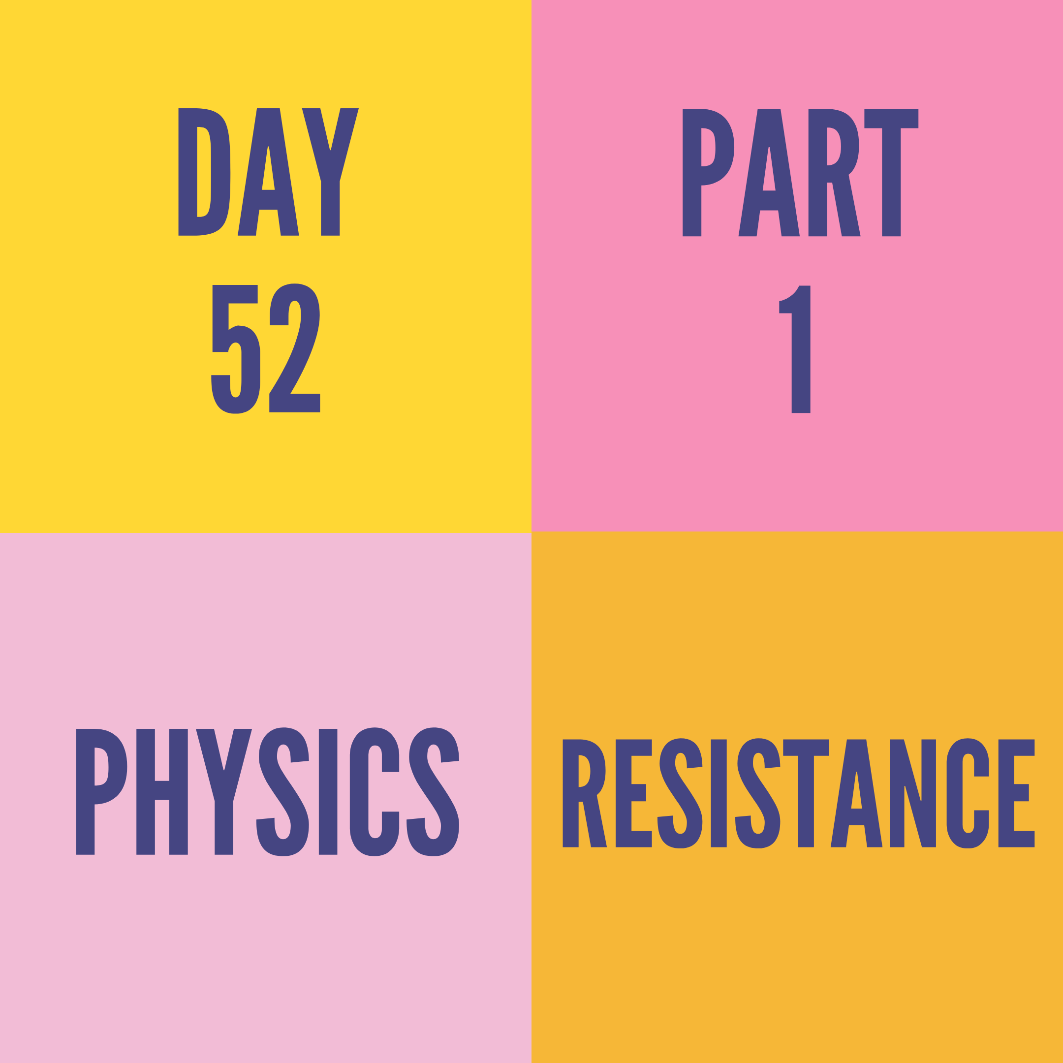 DAY-52 PART-1  RESISTANCE