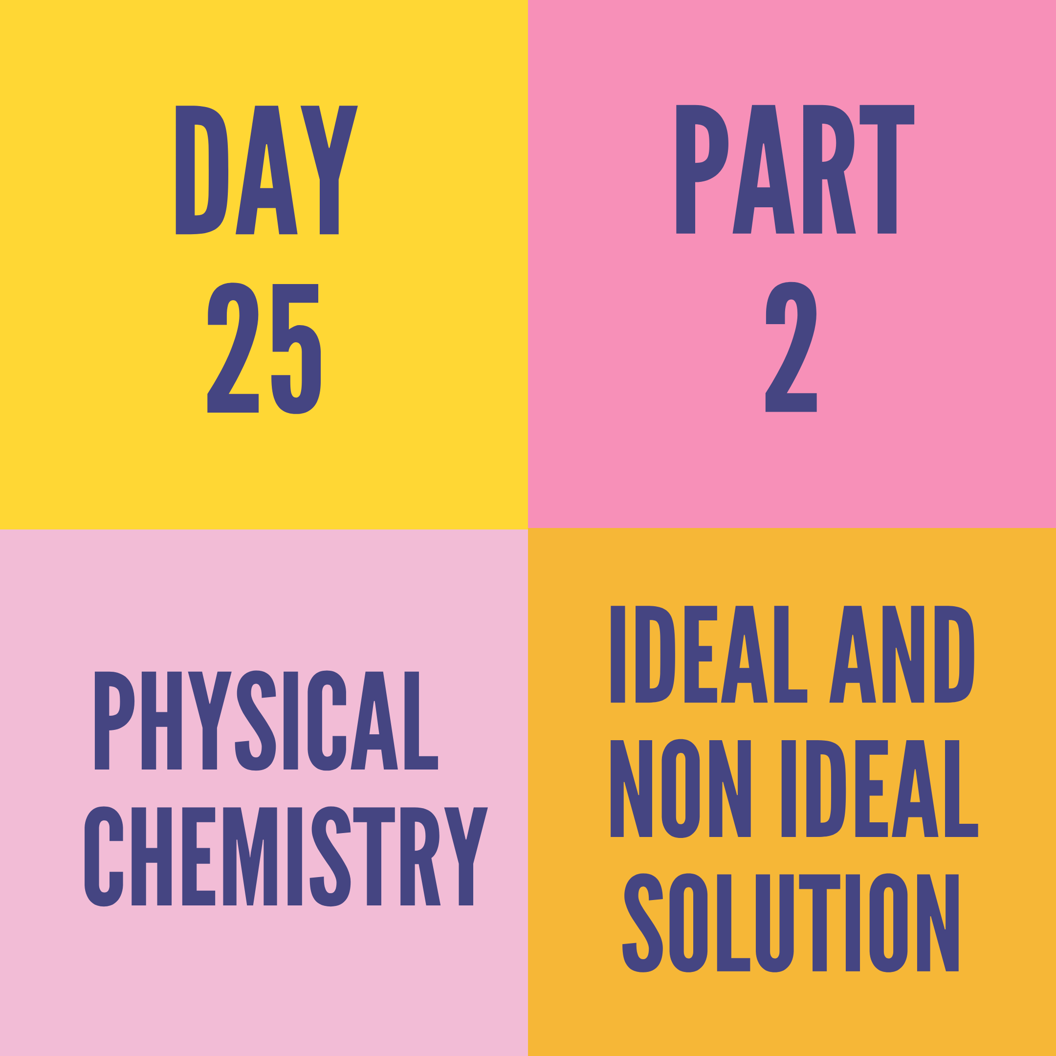 DAY-25 PART-2 IDEAL AND NON IDEAL SOLUTION
