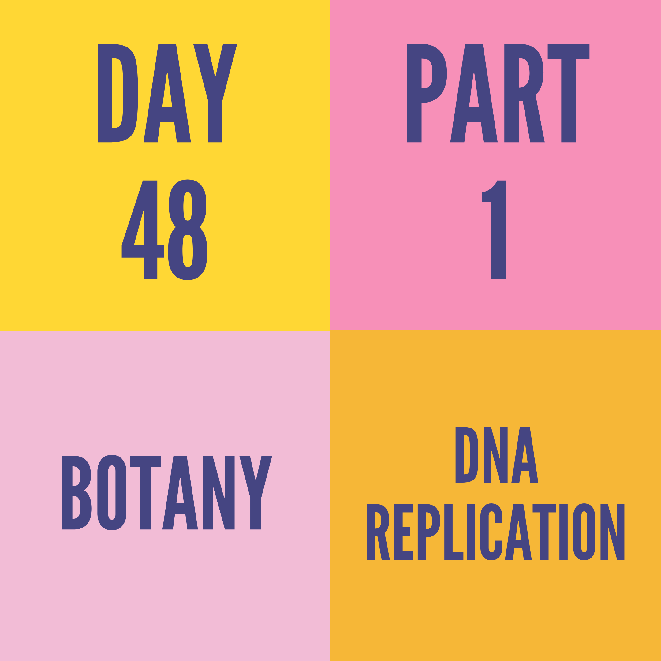 DAY-48 PART-1 DNA REPLICATION