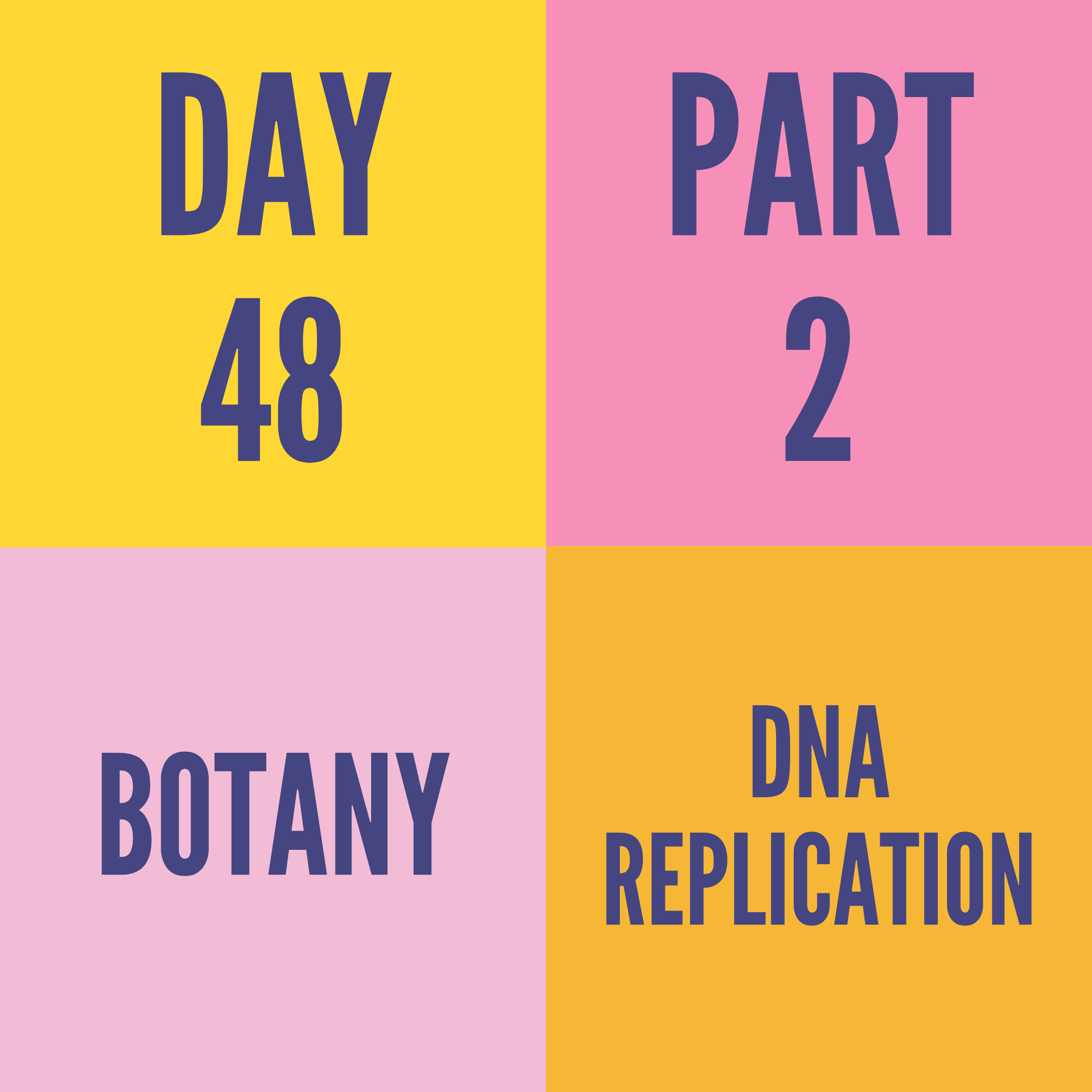 DAY-48 PART-2 DNA REPLICATION