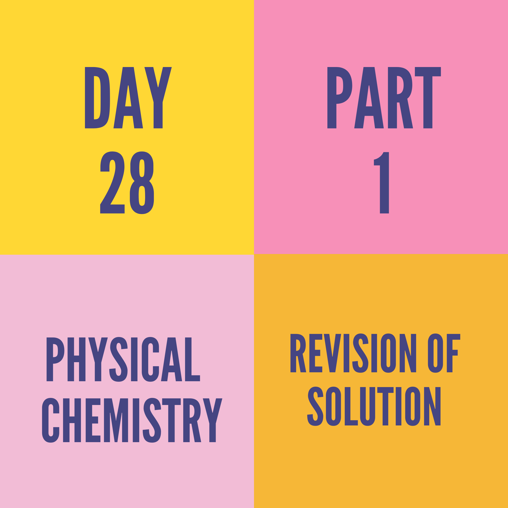 DAY-28 PART-1 REVISION OF SOLUTION
