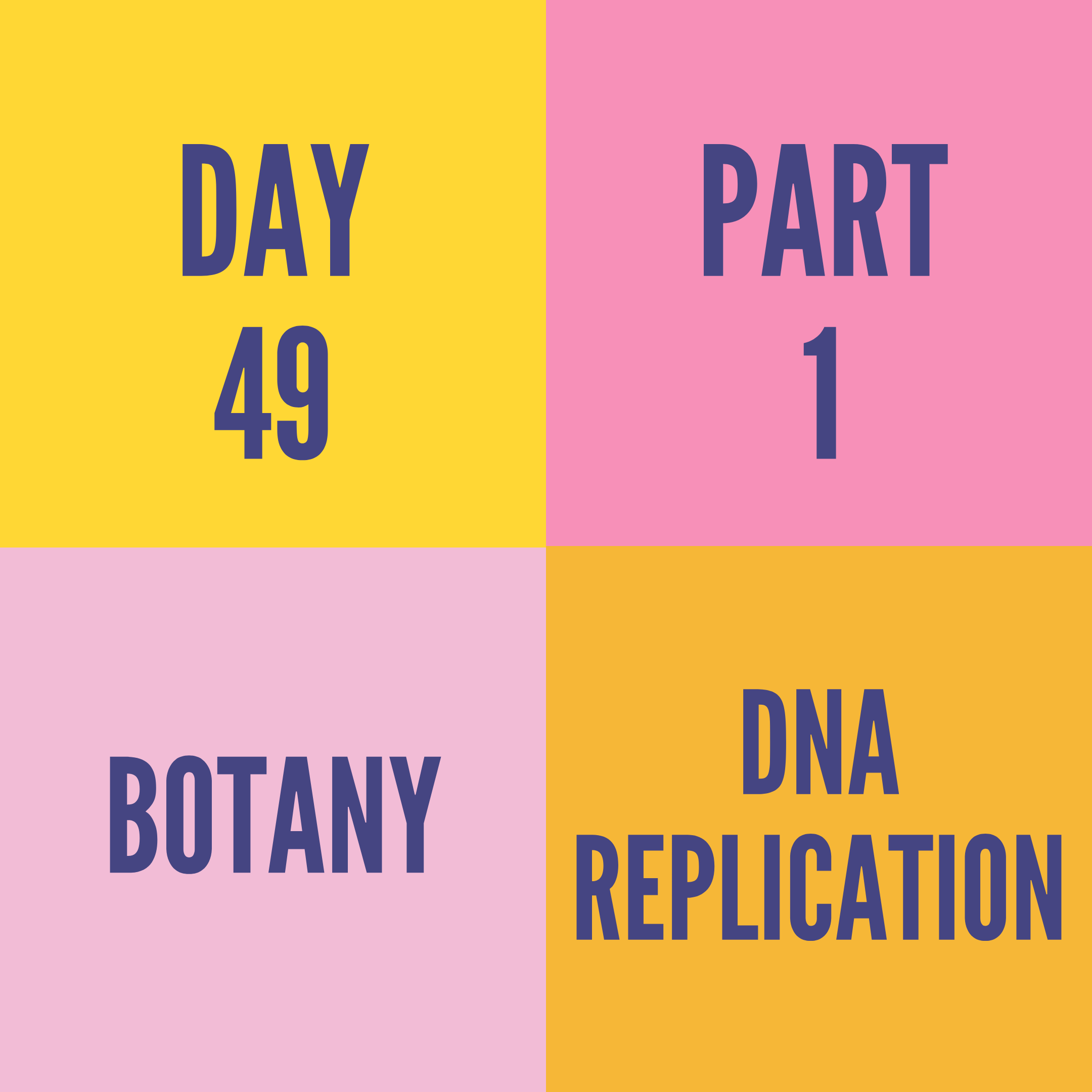 DAY-49 PART-1 DNA REPLICATION