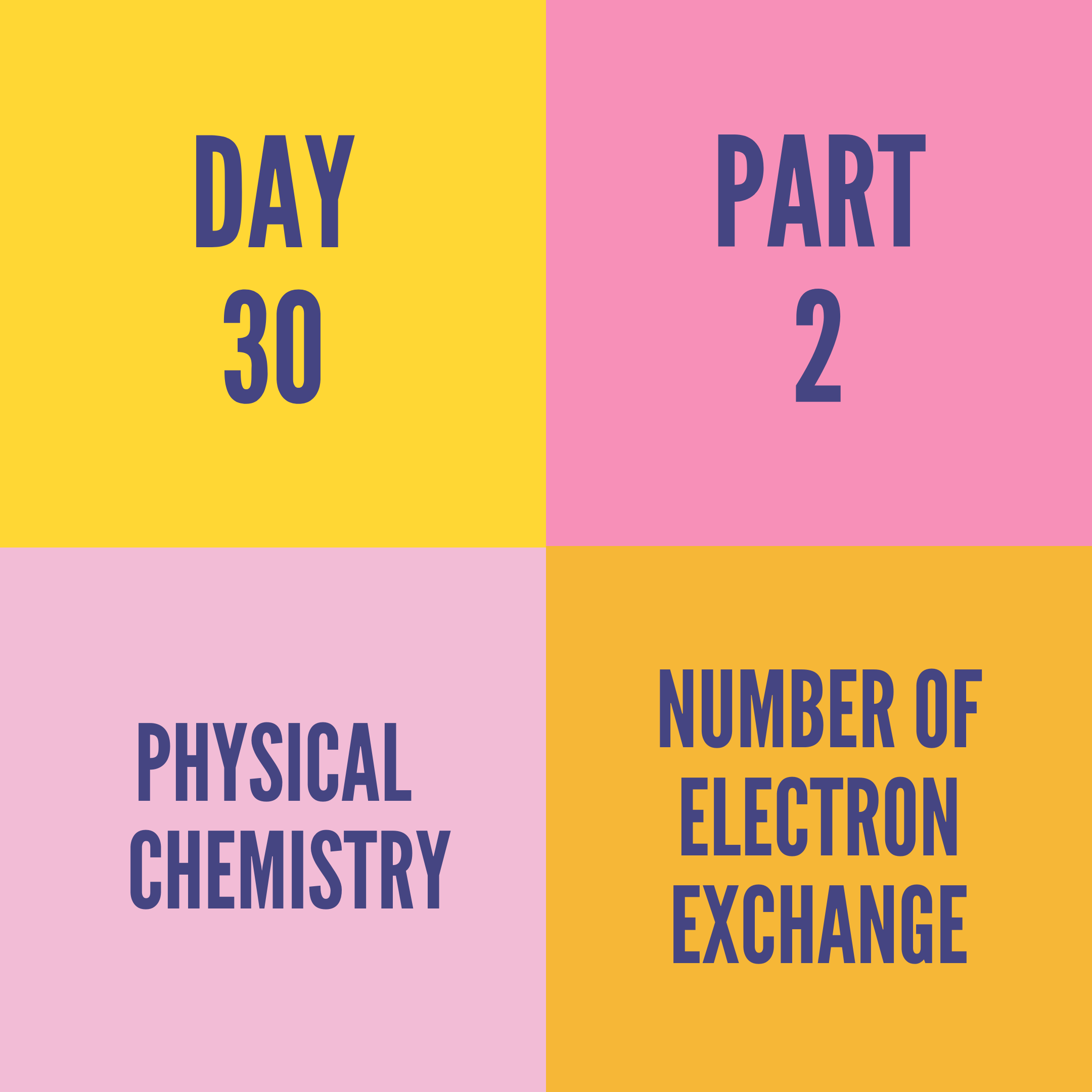 DAY-30 PART-2 NUMBER OF ELECTRON EXCHANGE