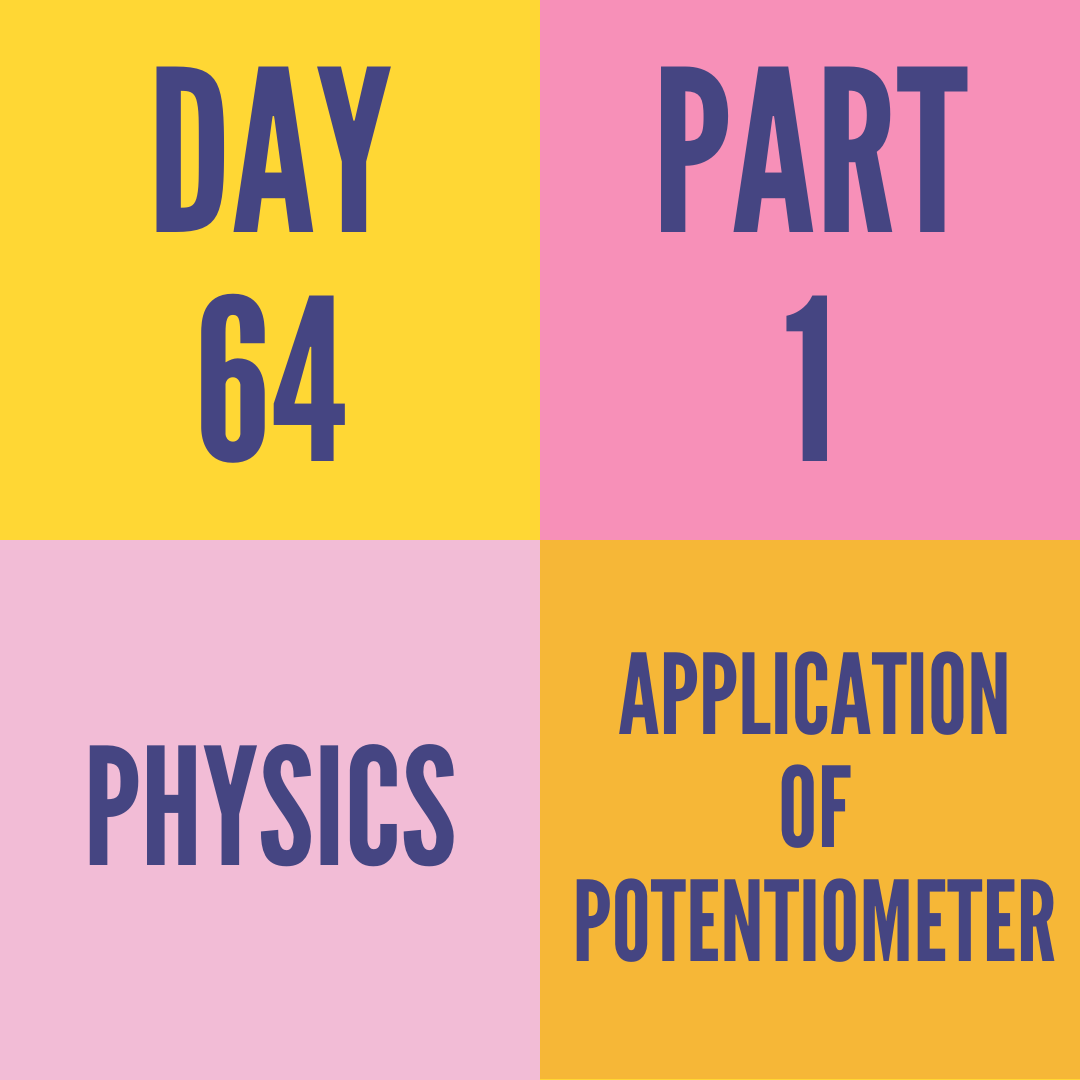 DAY-64 PART-1  APPLICATION OF POTENTIOMETER