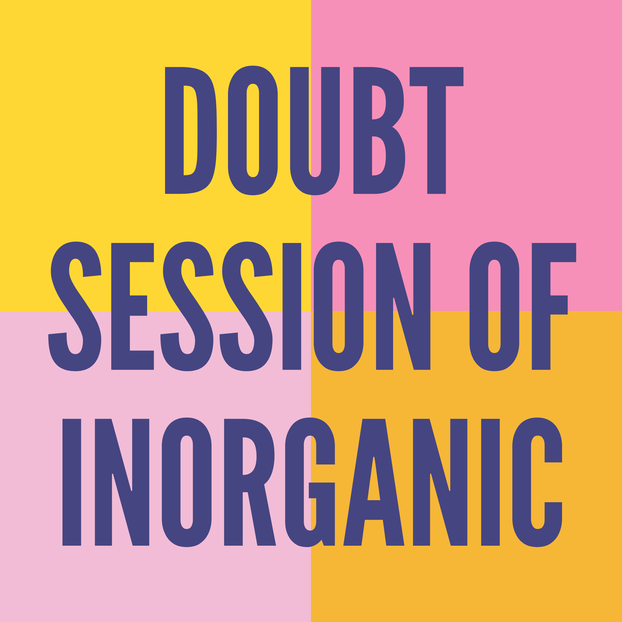 DOUBT SESSION OF INORGANIC