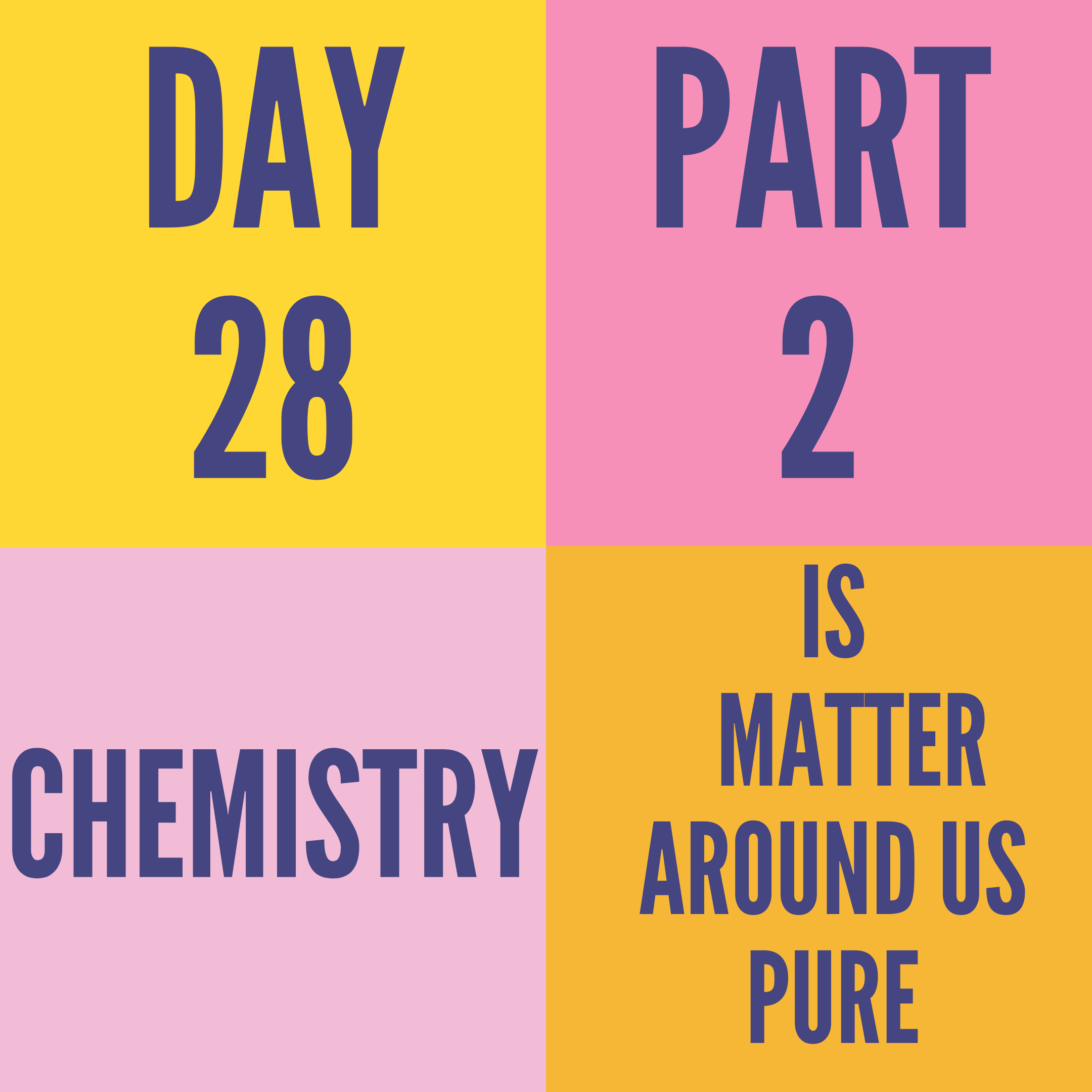 DAY-28 PART-2 IS MATTER AROUND US PURE