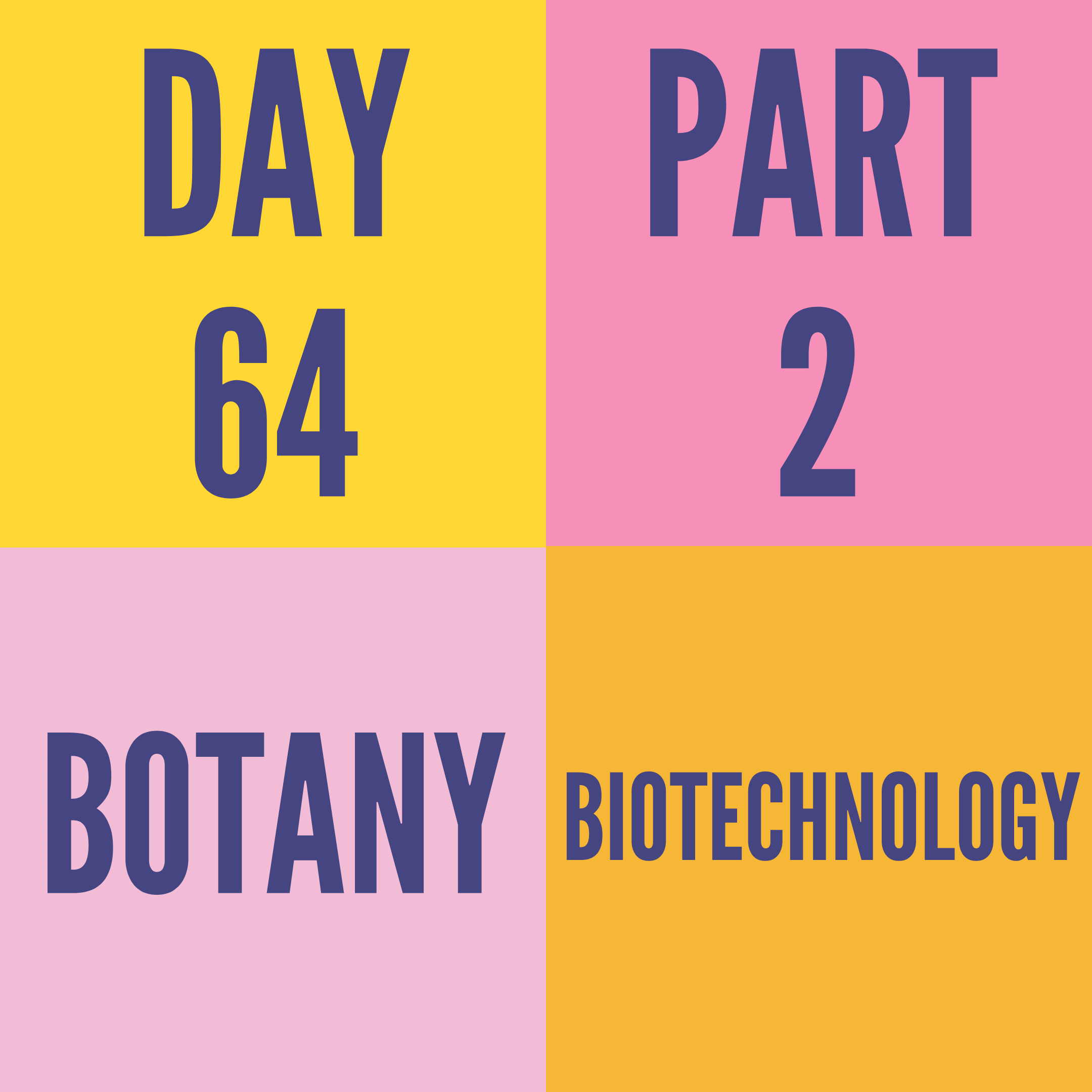DAY-64 PART-2 BIOTECHNOLOGY