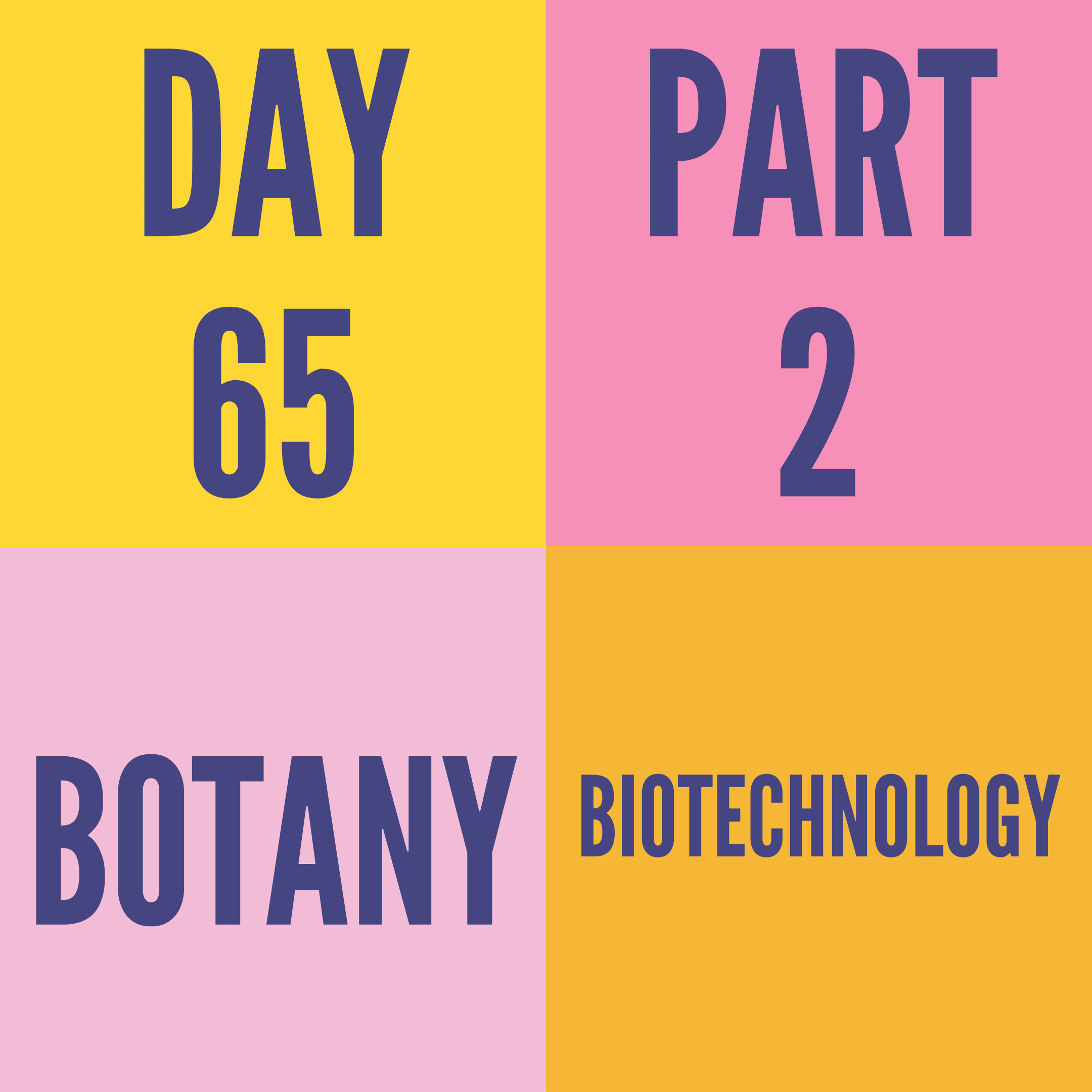 DAY-65 PART-2 BIOTECHNOLOGY