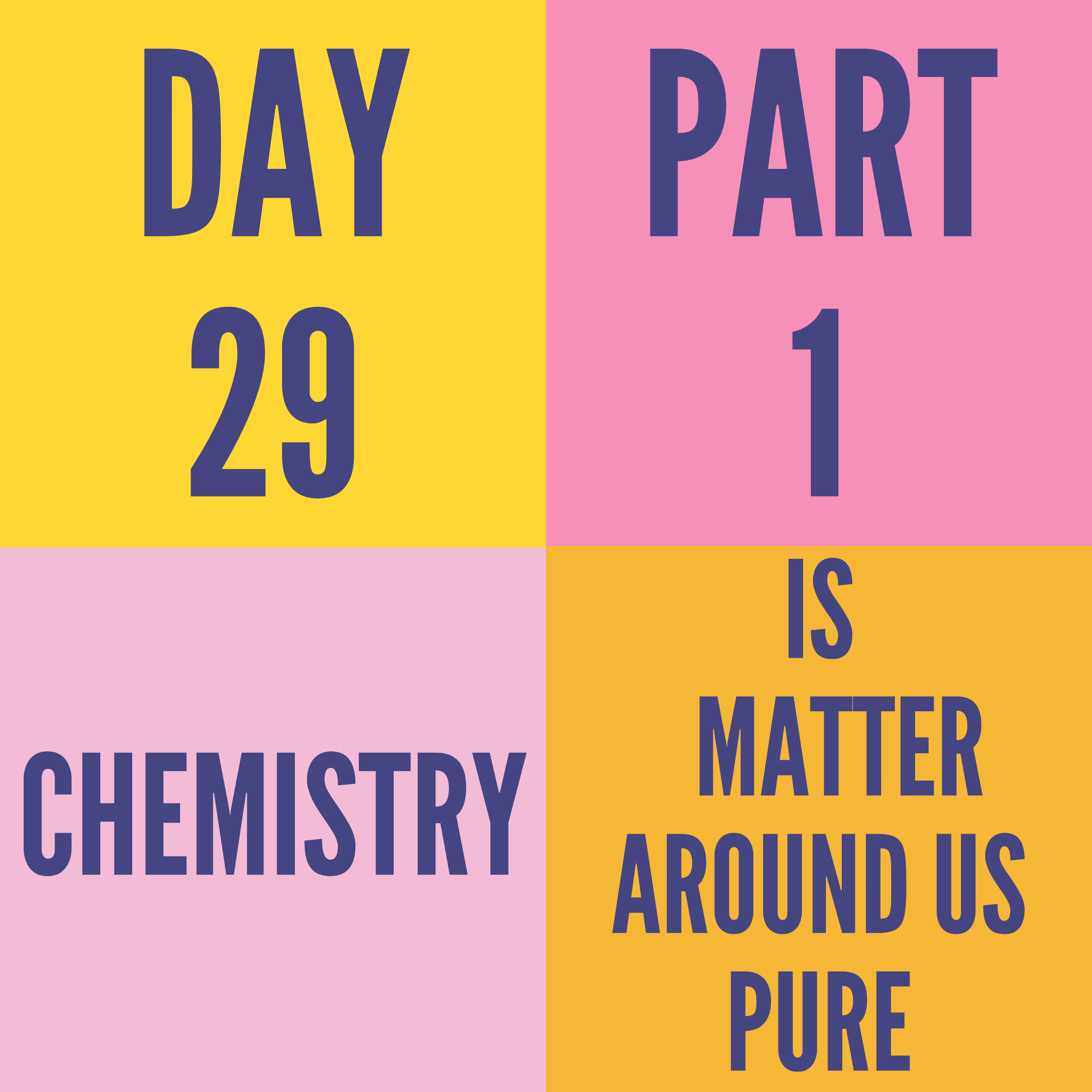 DAY-29 PART-1 IS MATTER AROUND US PURE
