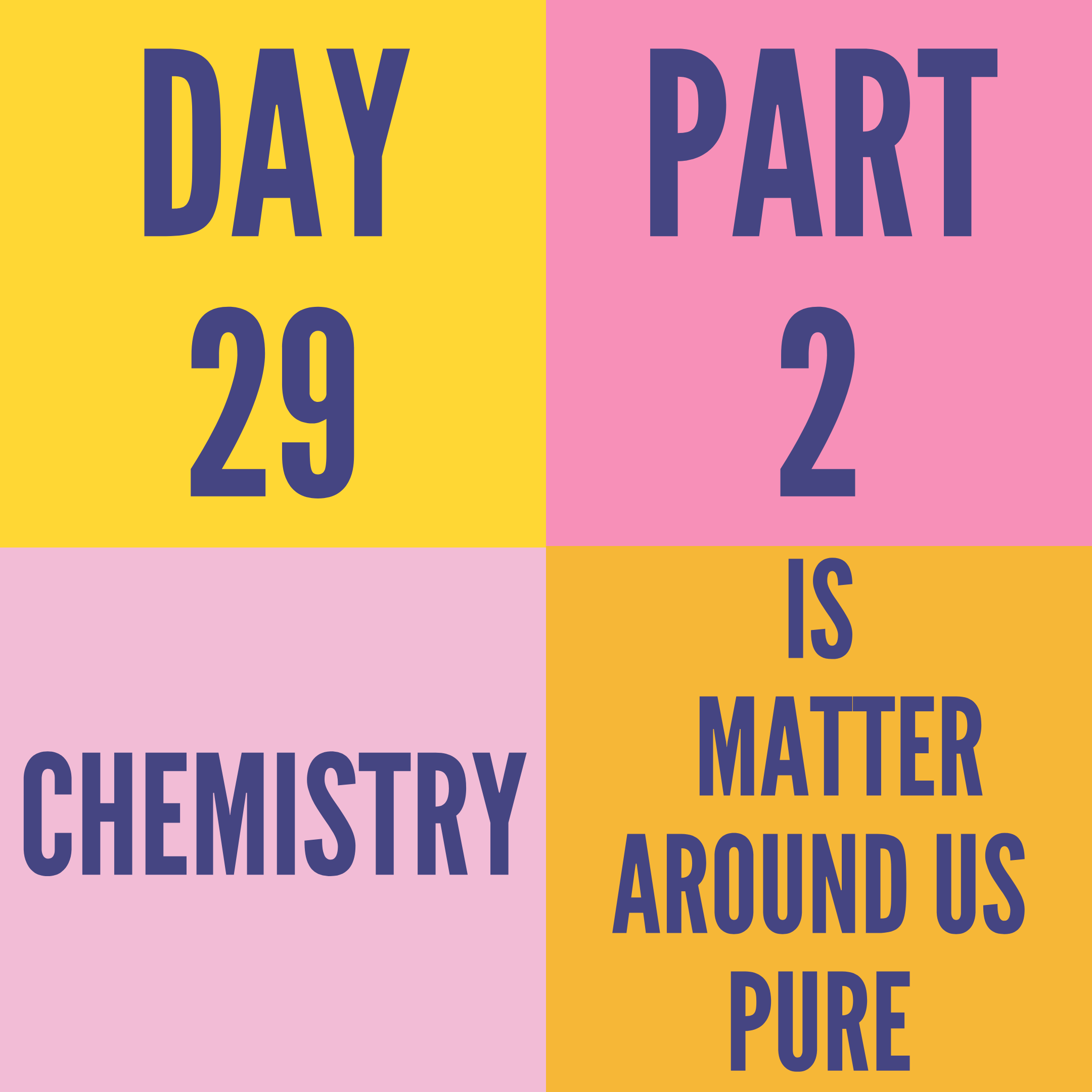 DAY-29 PART-2 IS MATTER AROUND US PURE