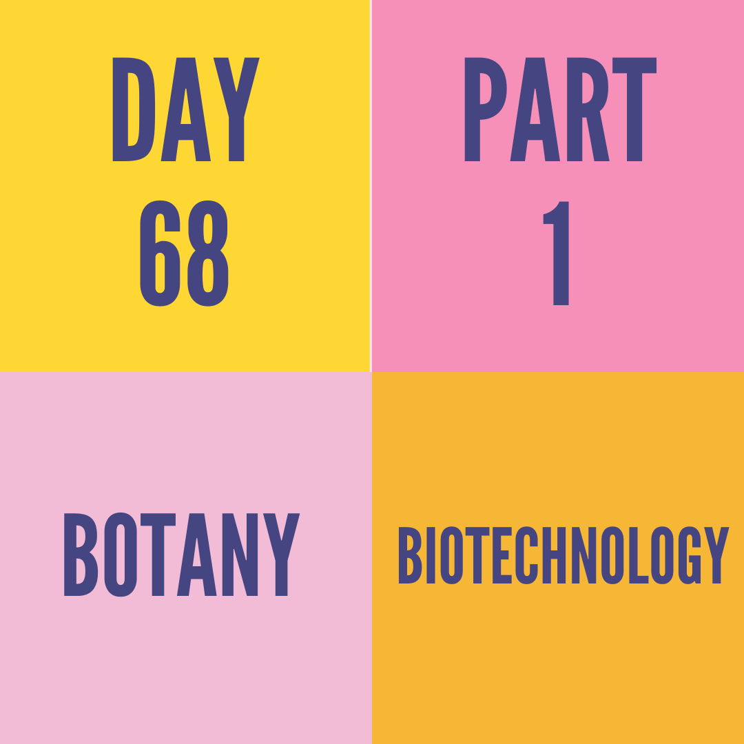DAY-68 PART-1 BIOTECHNOLOGY