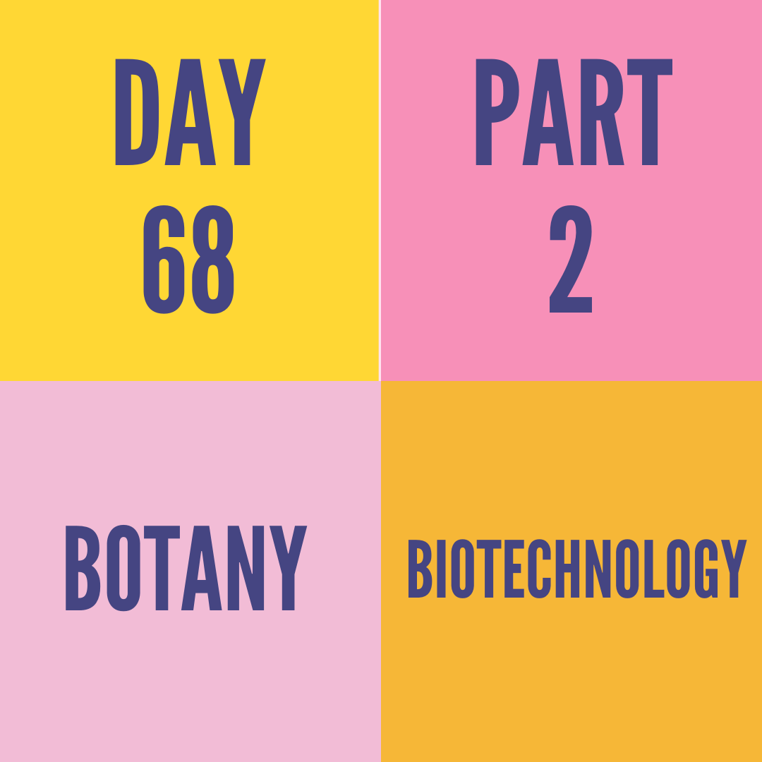 DAY-68 PART-2 BIOTECHNOLOGY