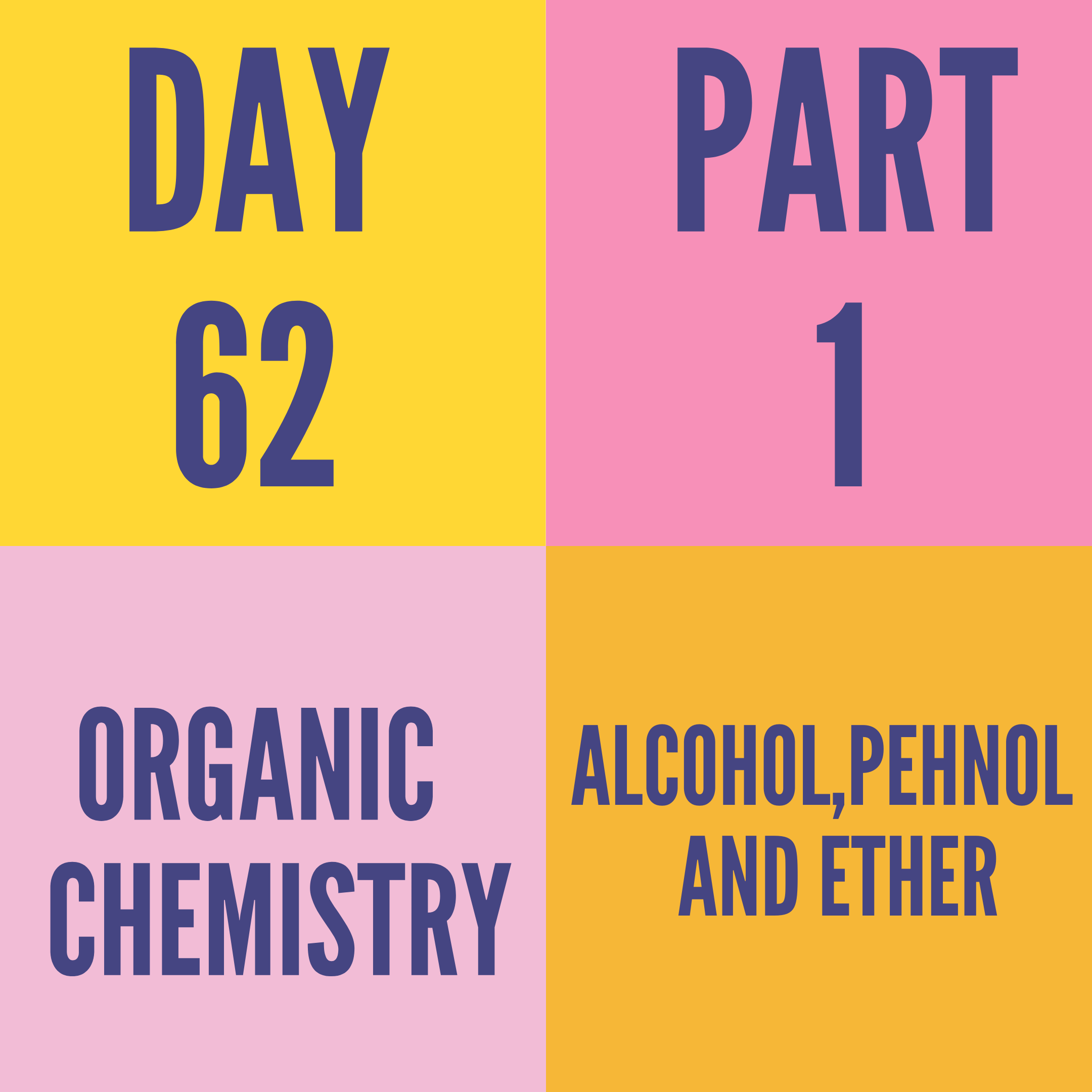 DAY-62 PART-1 ALCOH0L,PEHNOL AND ETHER