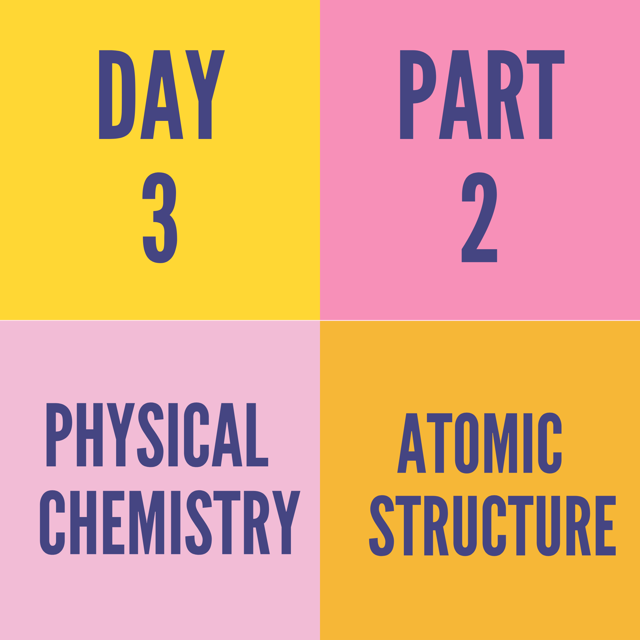 DAY-3 PART-2 ATOMIC STRUCTURE