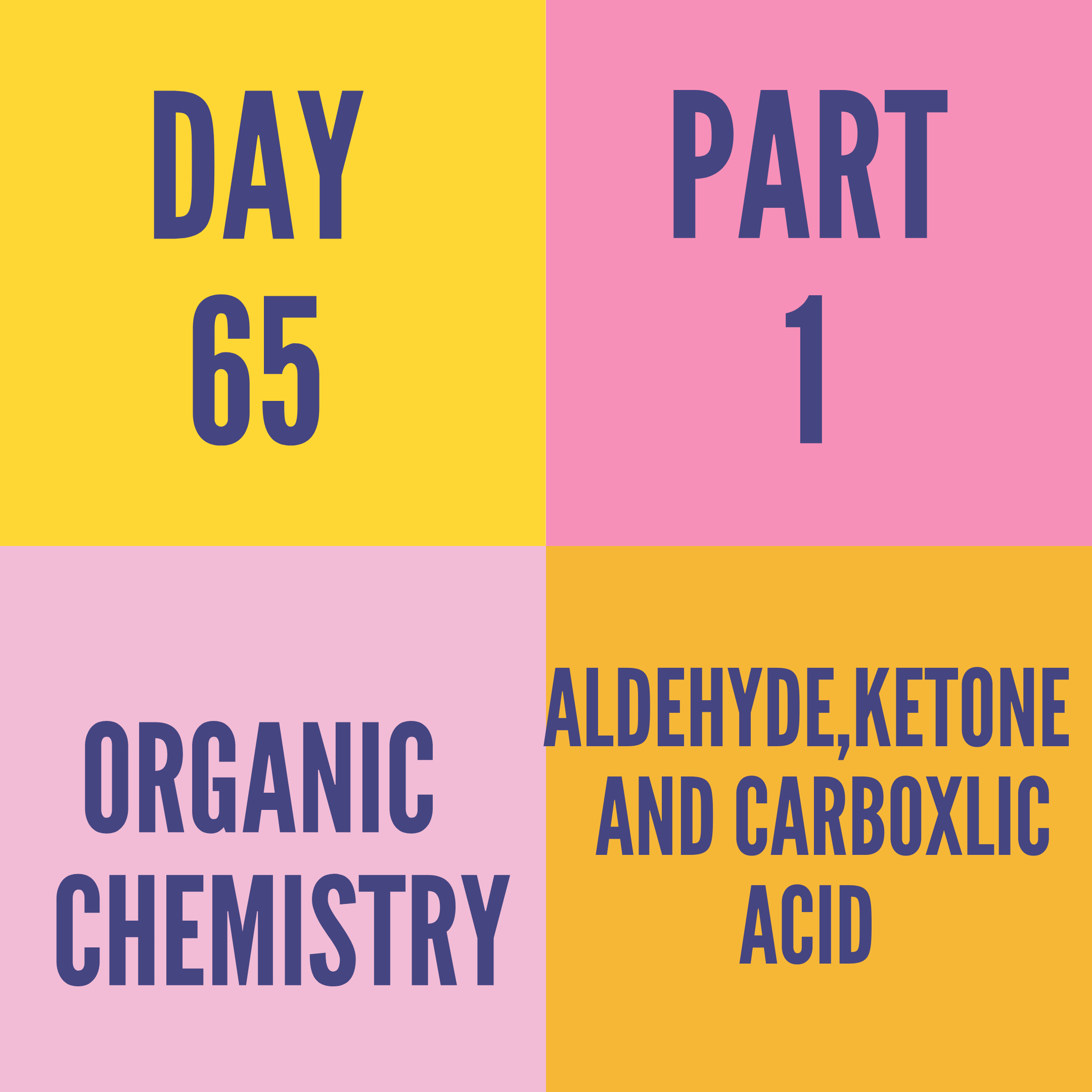 DAY-65 PART-1 ALDEHYDE,KETONE AND CARBOXLIC ACID