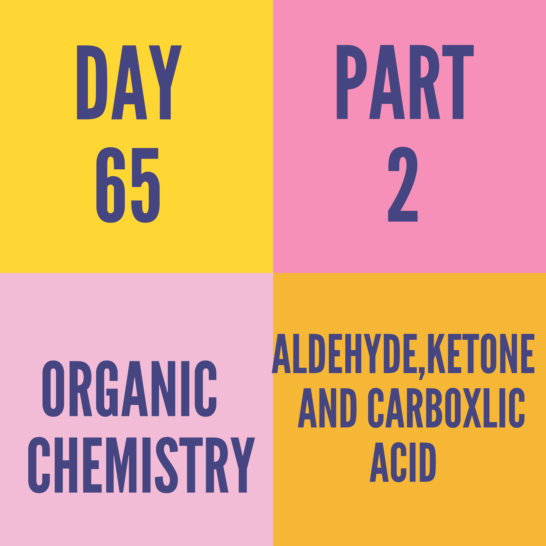 DAY-65 PART-2 ALDEHYDE,KETONE AND CARBOXLIC ACID