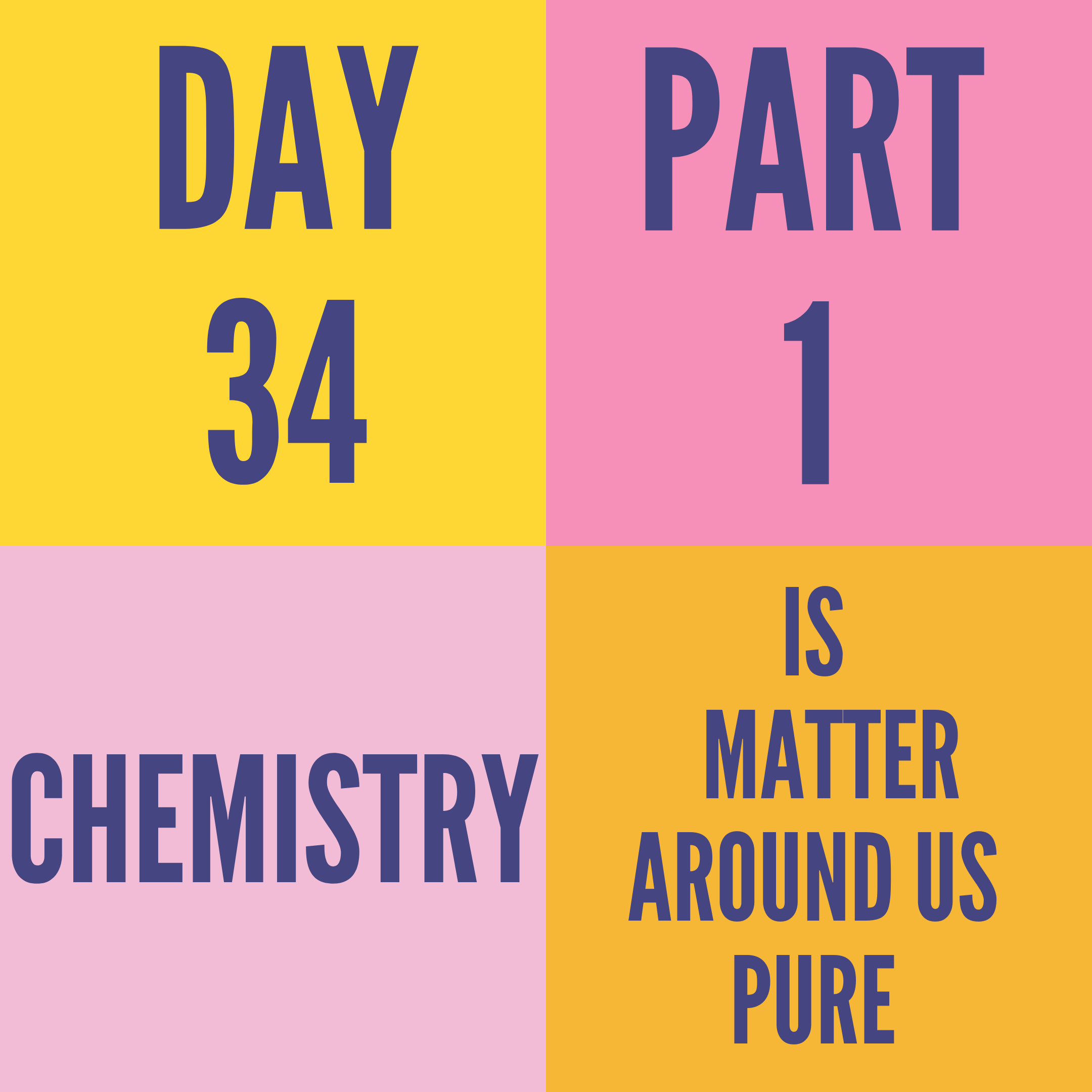DAY-34 PART-1 IS MATTER AROUND US PURE