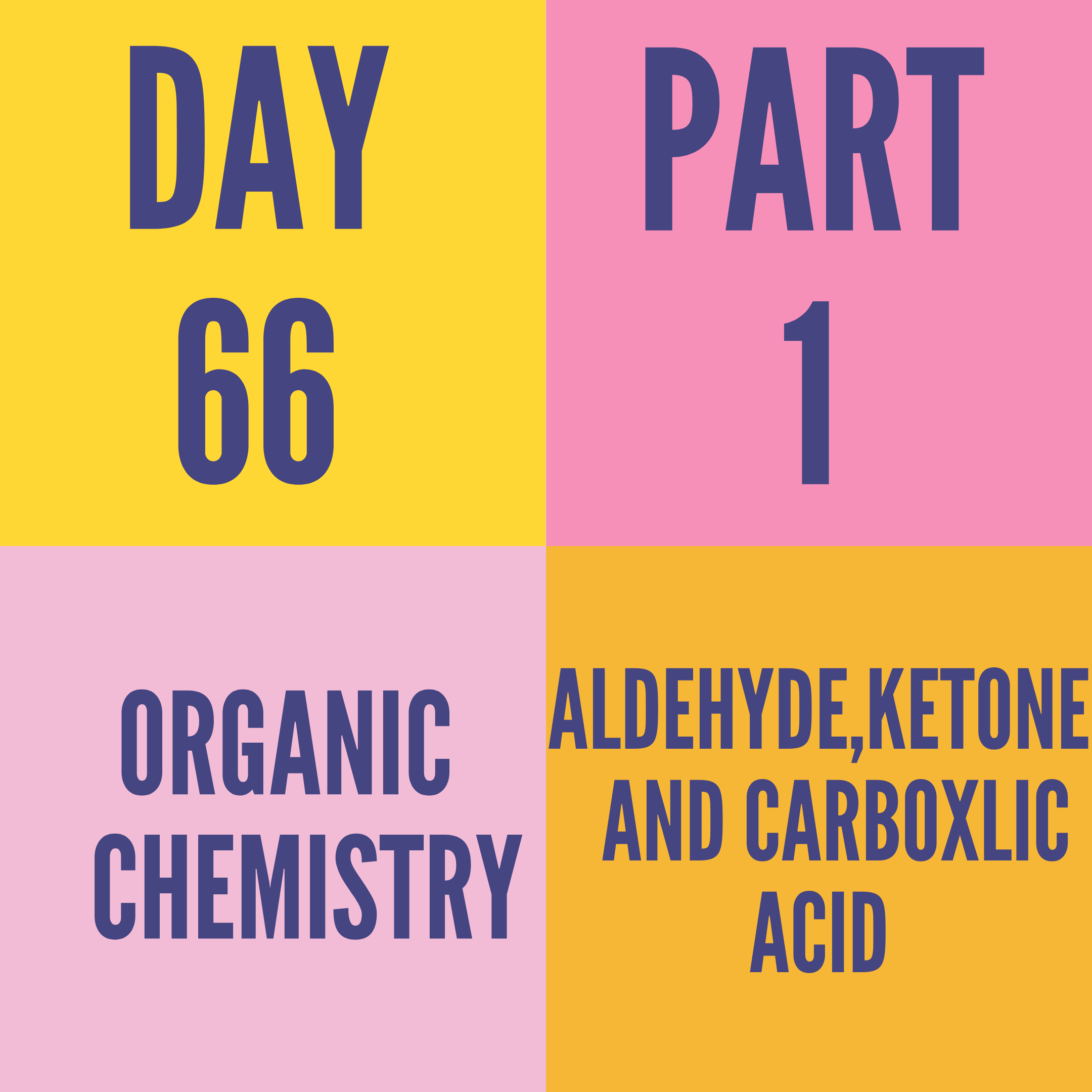DAY-66 PART-1 ALDEHYDE,KETONE AND CARBOXLIC ACID