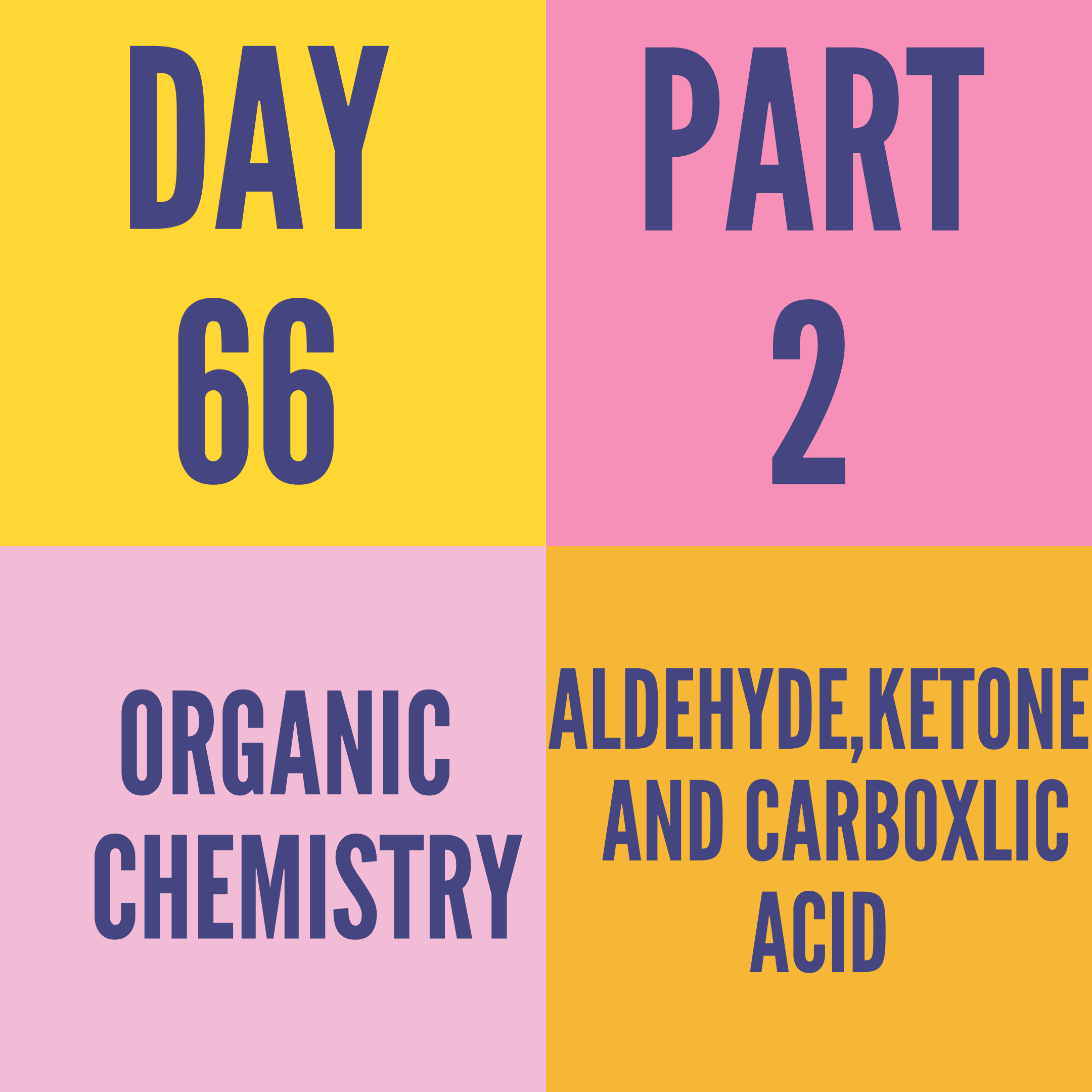 DAY-66 PART-2 ALDEHYDE,KETONE AND CARBOXLIC ACID