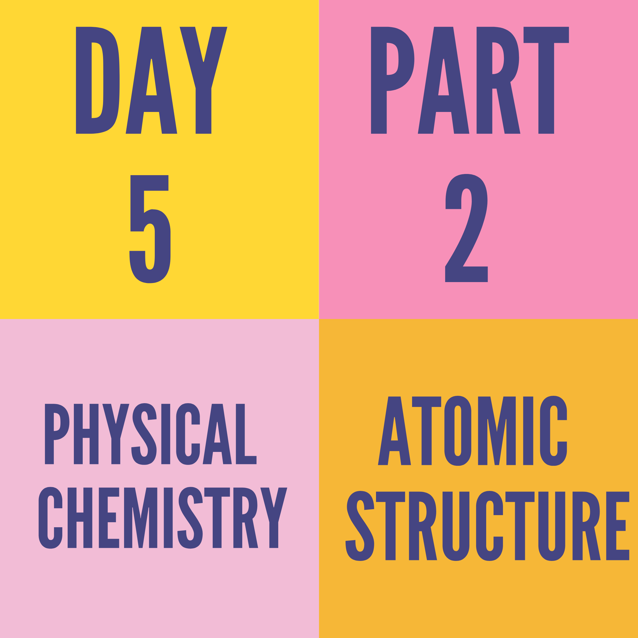 DAY-5 PART-2 ATOMIC STRUCTURE