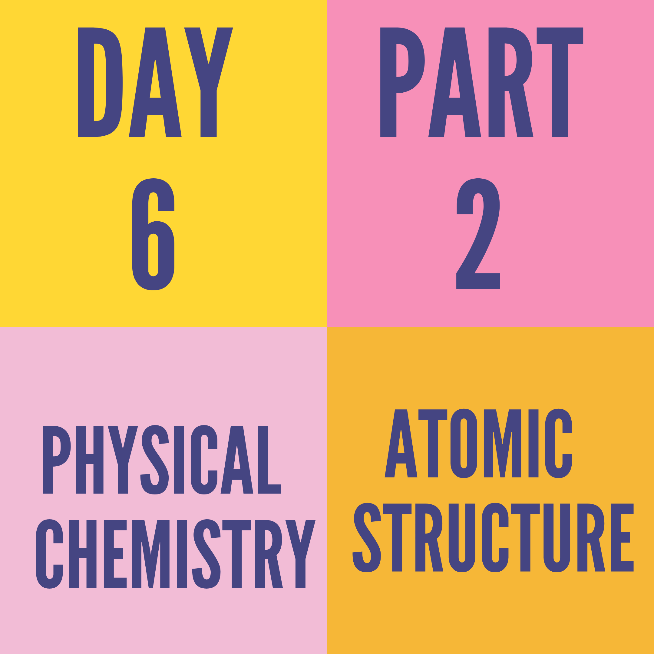 DAY-6 PART-2 ATOMIC STRUCTURE