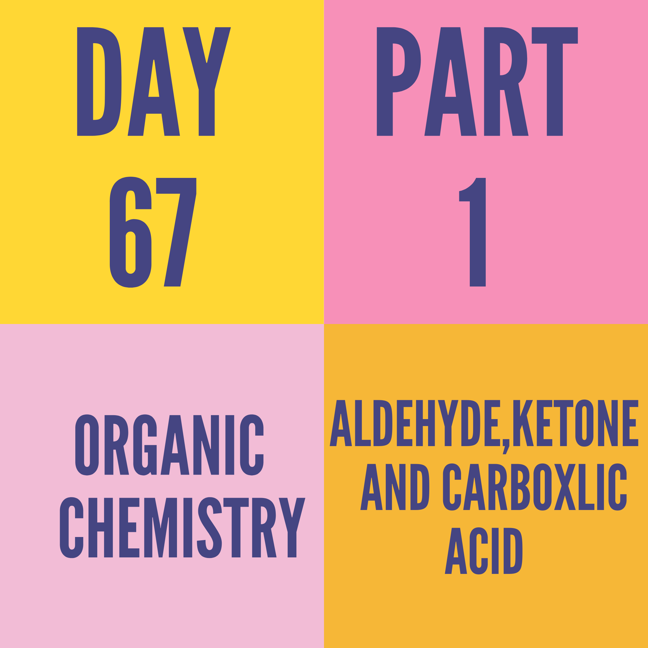 DAY-67 PART-1 ALDEHYDE,KETONE AND CARBOXLIC ACID