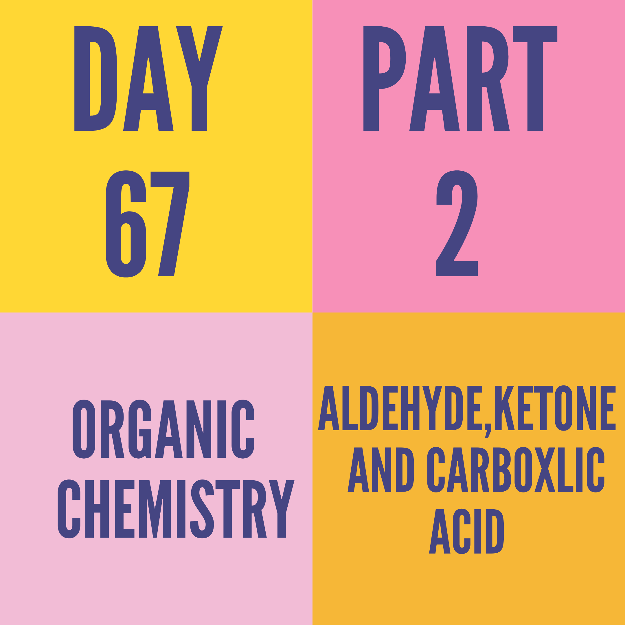 DAY-67 PART-2 ALDEHYDE,KETONE AND CARBOXLIC ACID