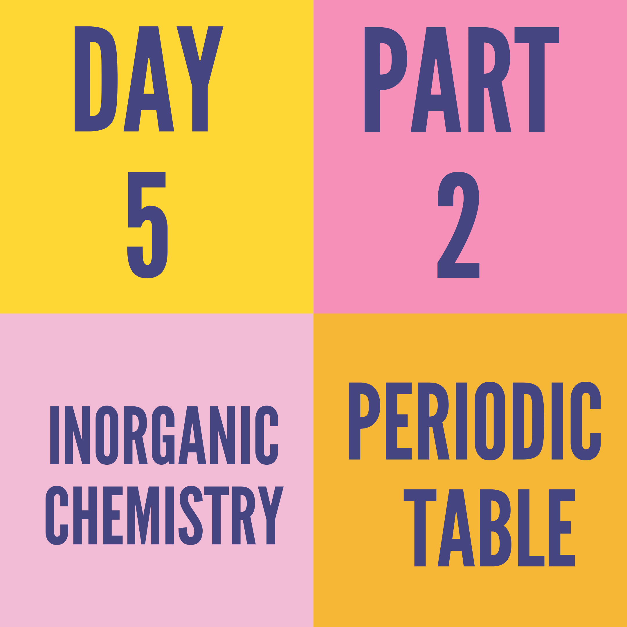 DAY-5 PART-2 PERIODIC TABLE