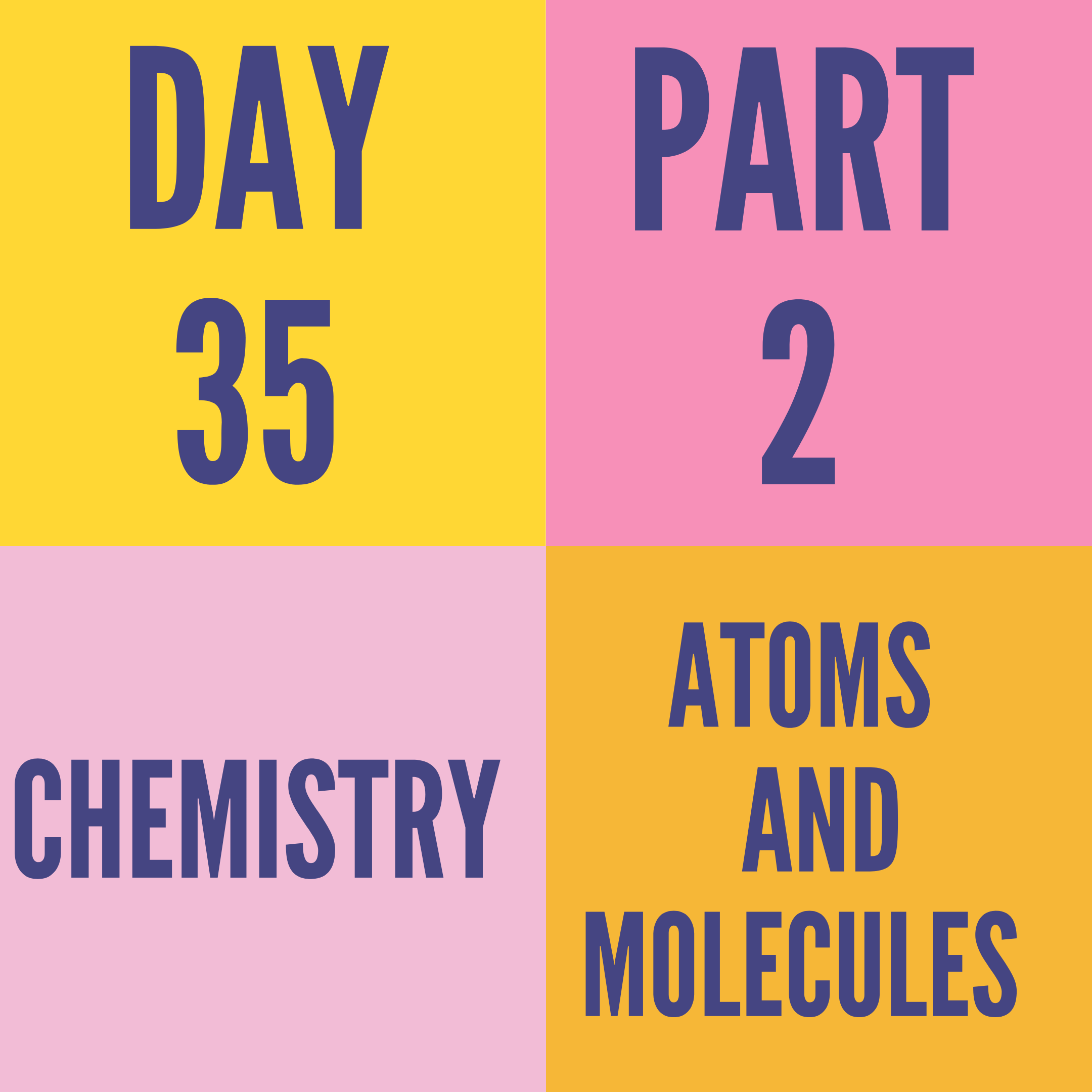 DAY-35 PART-2 ATOMS AND MOLECULES