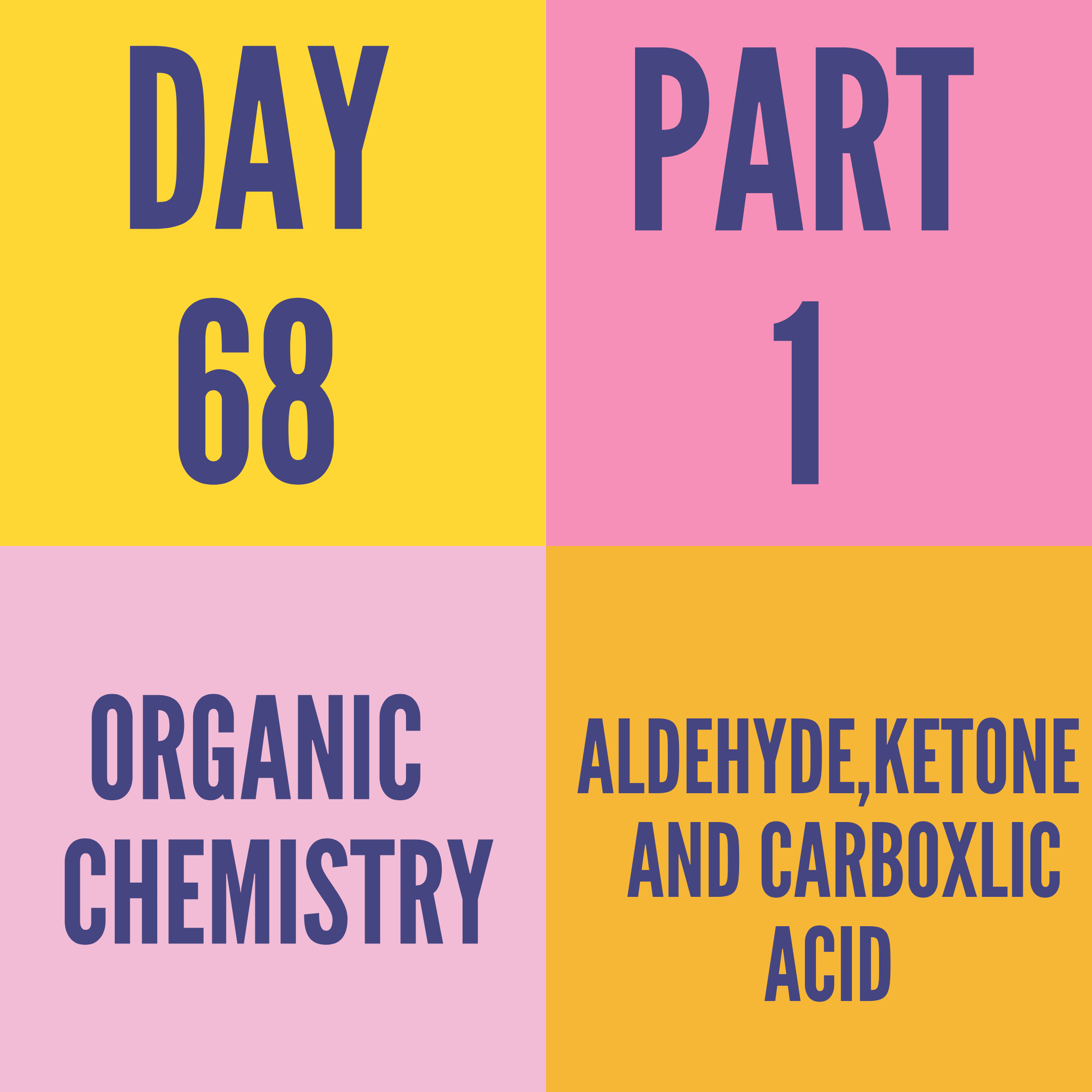 DAY-68 PART-1 ALDEHYDE,KETONE AND CARBOXLIC ACID