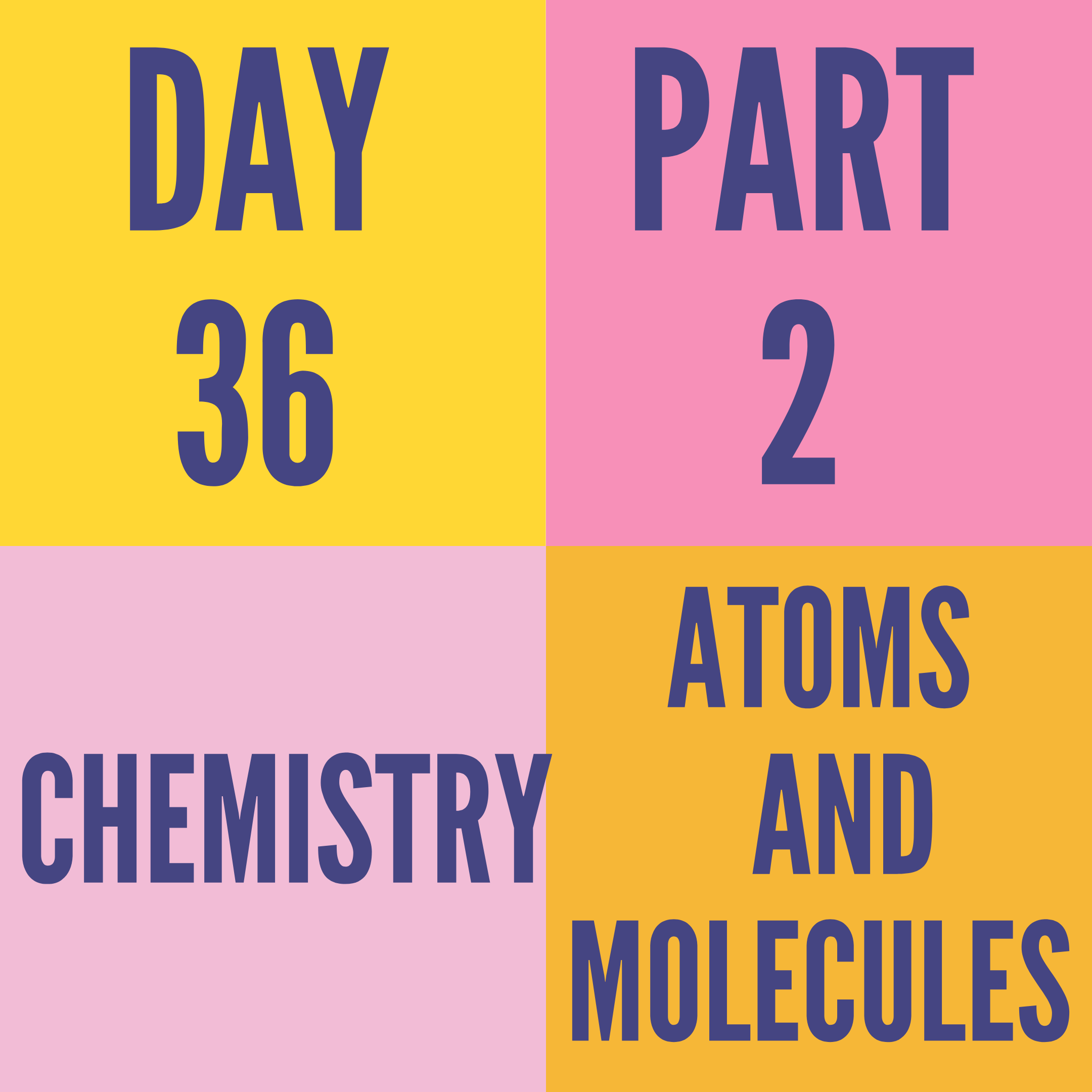 DAY-36 PART-2 ATOMS AND MOLECULES