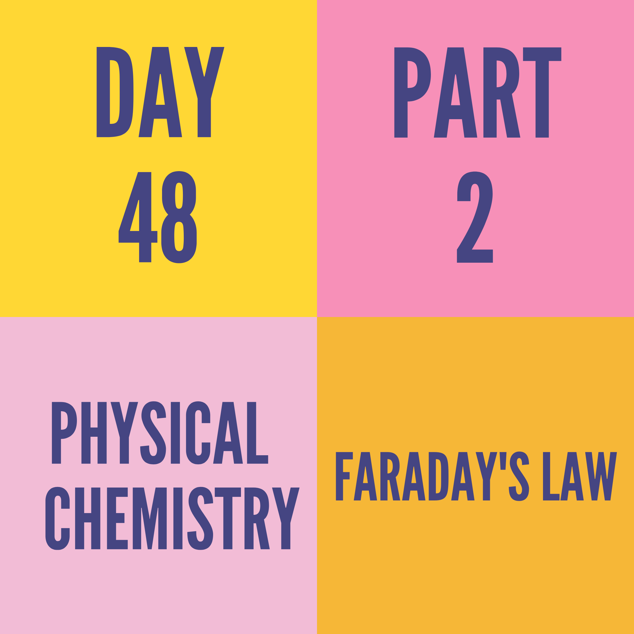 DAY-48 PART-2 FARADAY'S LAW