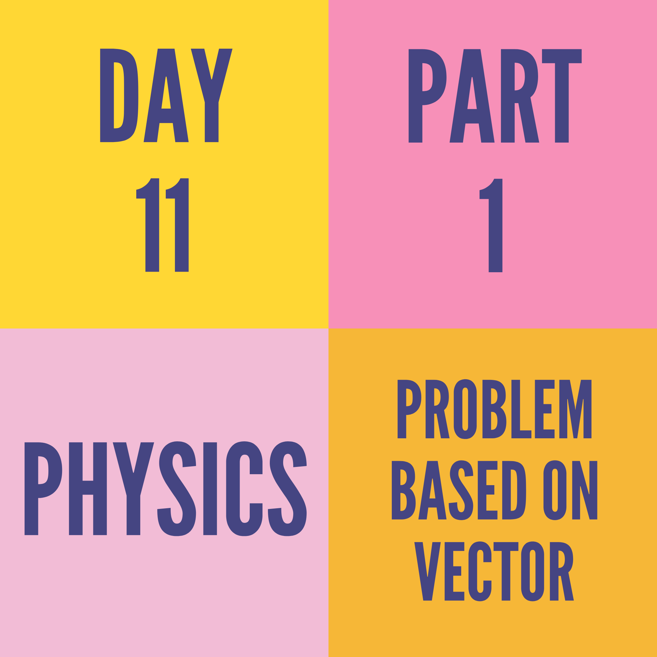 DAY-11 PART-1 PROBLEM BASED ON VECTOR