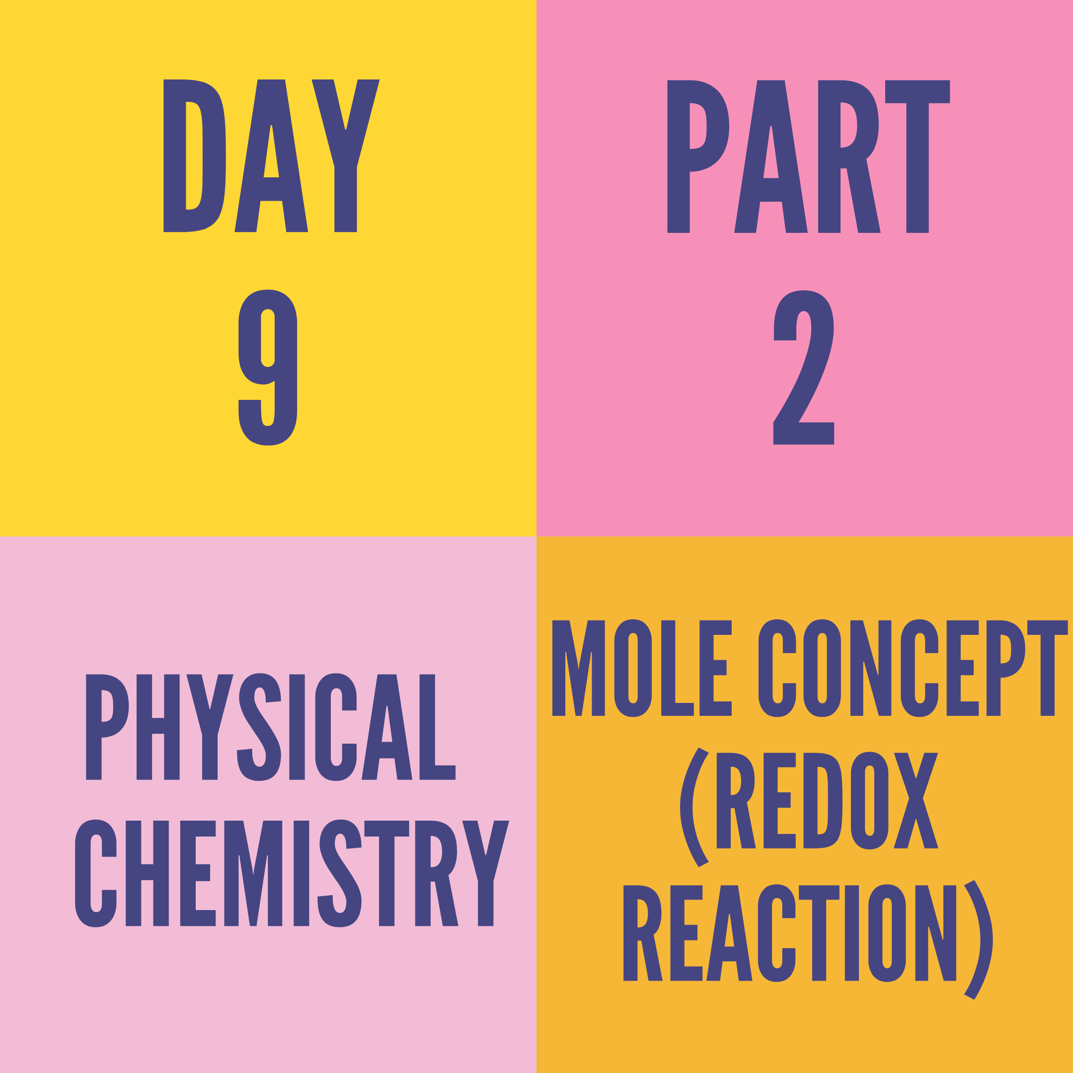 DAY-9 PART-2 MOLE CONCEPT (REDOX REACTION)