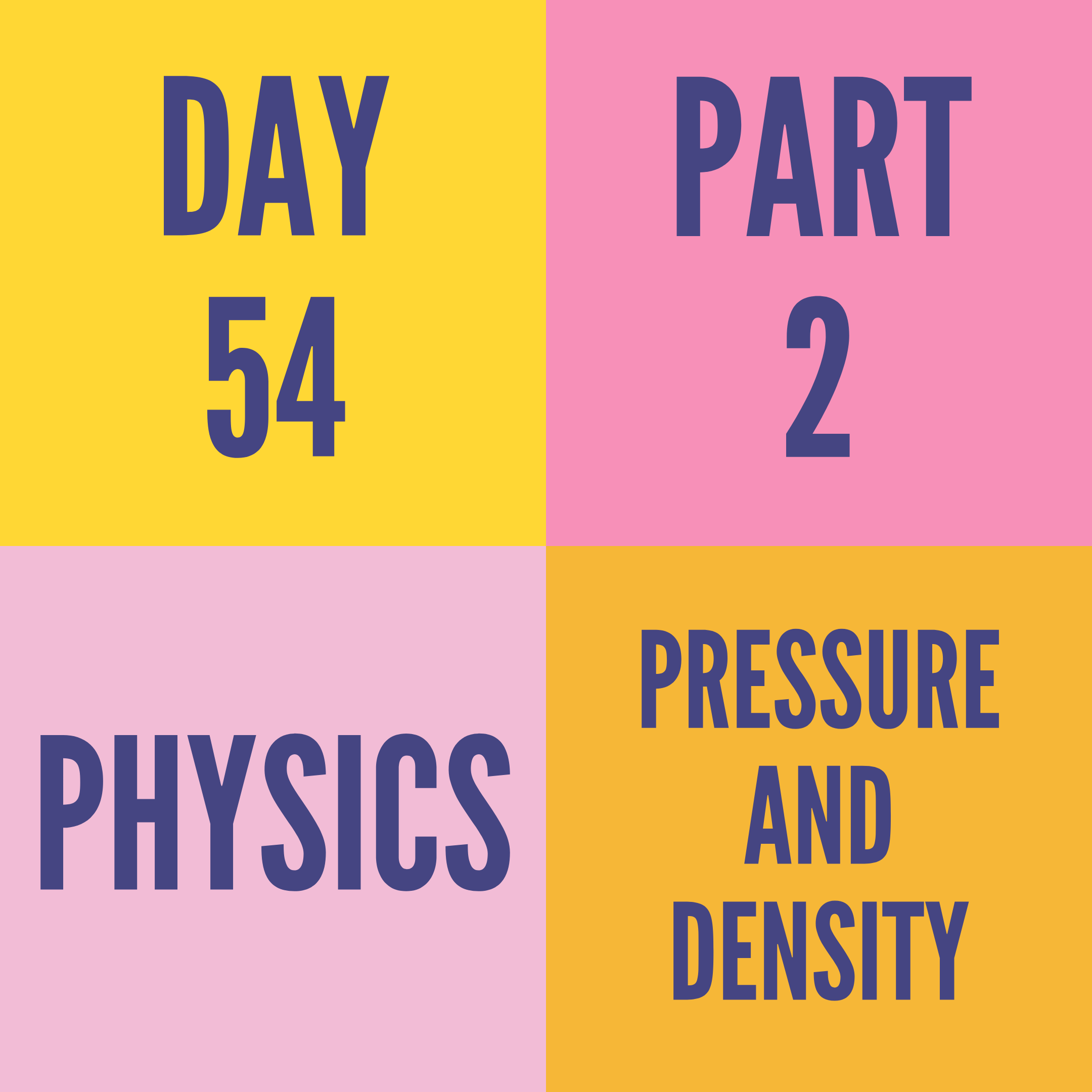 DAY-54 PART-2 PRESSURE AND DENSITY