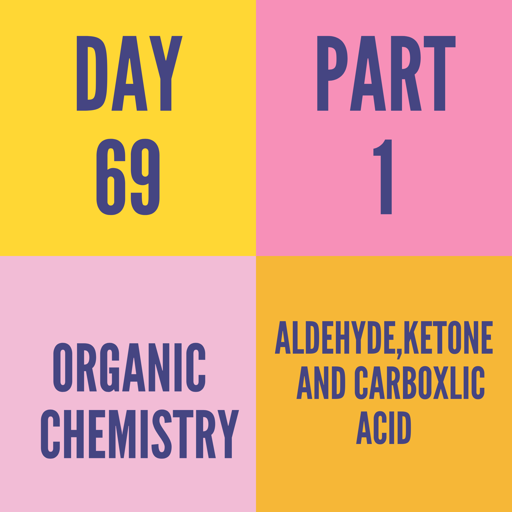 DAY-69 PART-1 ALDEHYDE,KETONE AND CARBOXLIC ACID