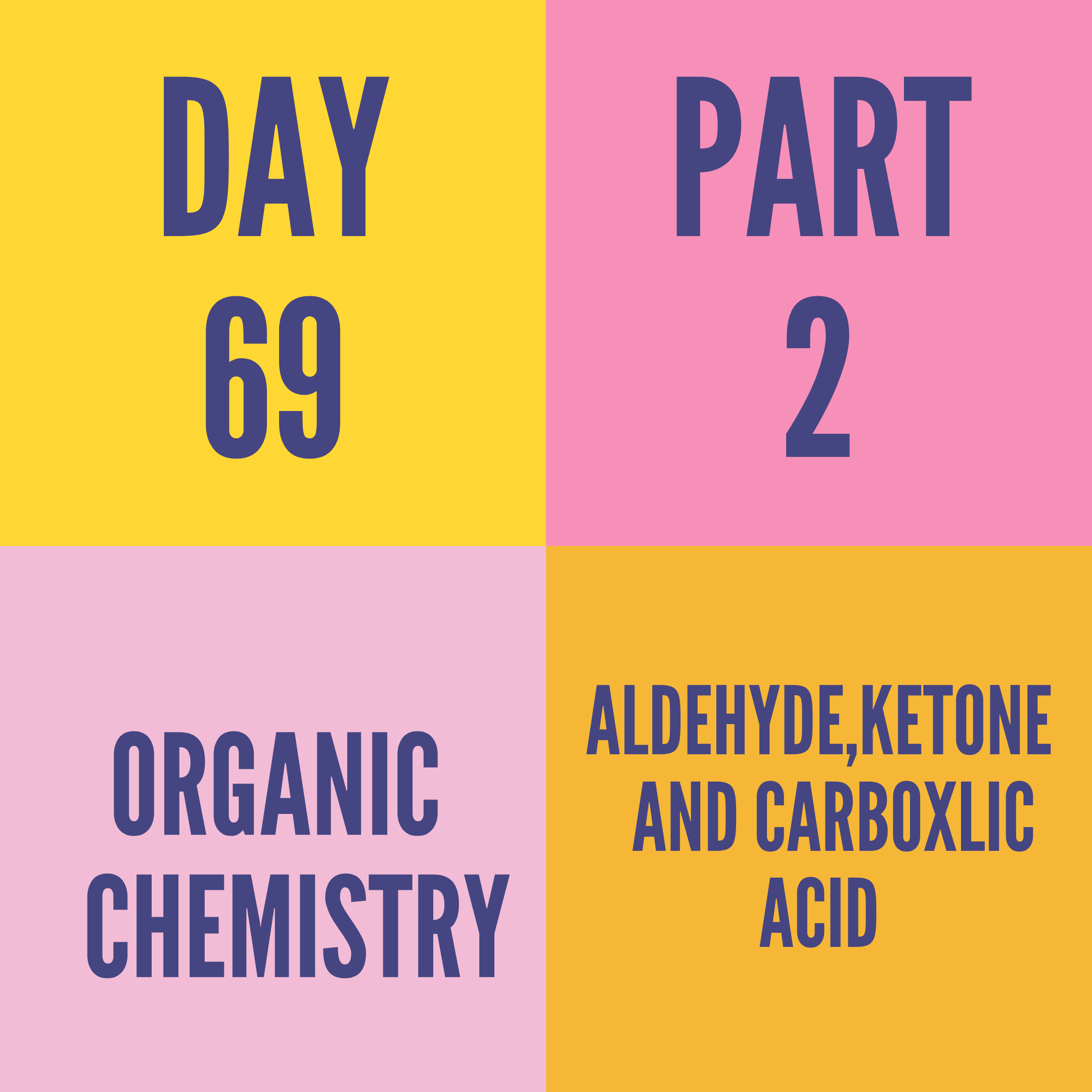 DAY-69 PART-2 ALDEHYDE,KETONE AND CARBOXLIC ACID