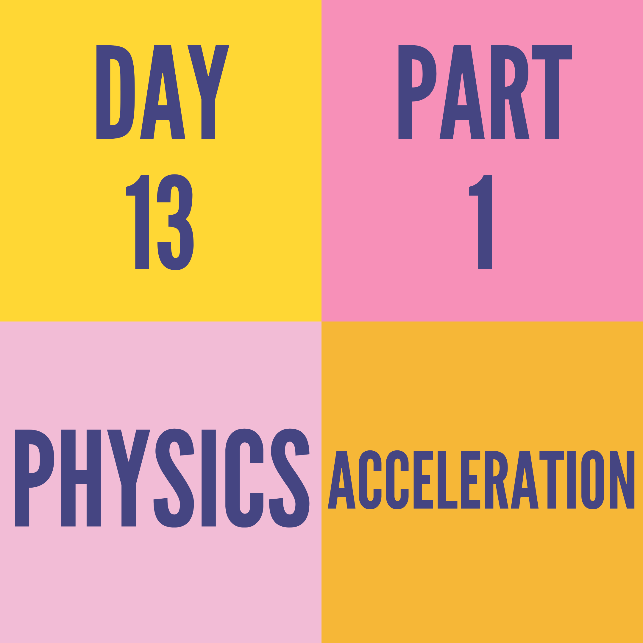 DAY-13 PART-1 ACCELERATION