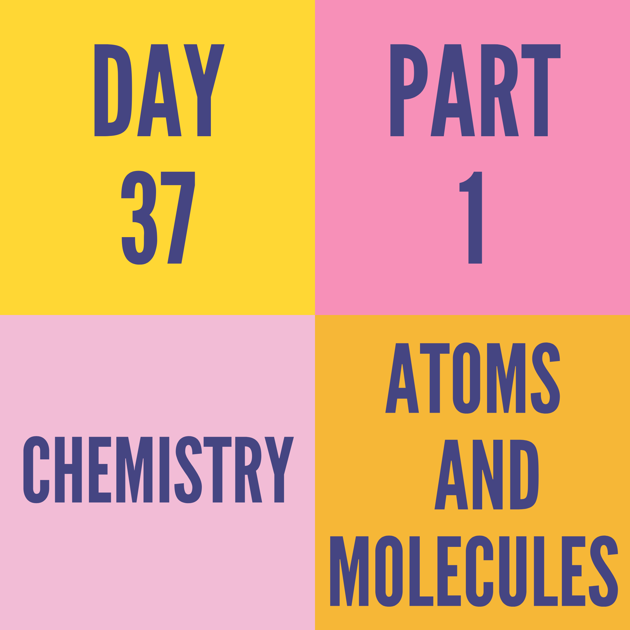 DAY-37 PART-1 ATOMS AND MOLECULES