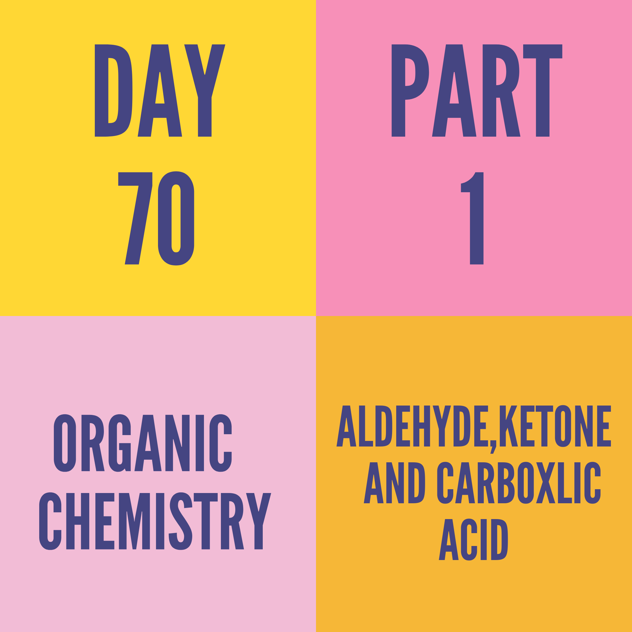 DAY-70 PART-1 ALDEHYDE,KETONE AND CARBOXLIC ACID