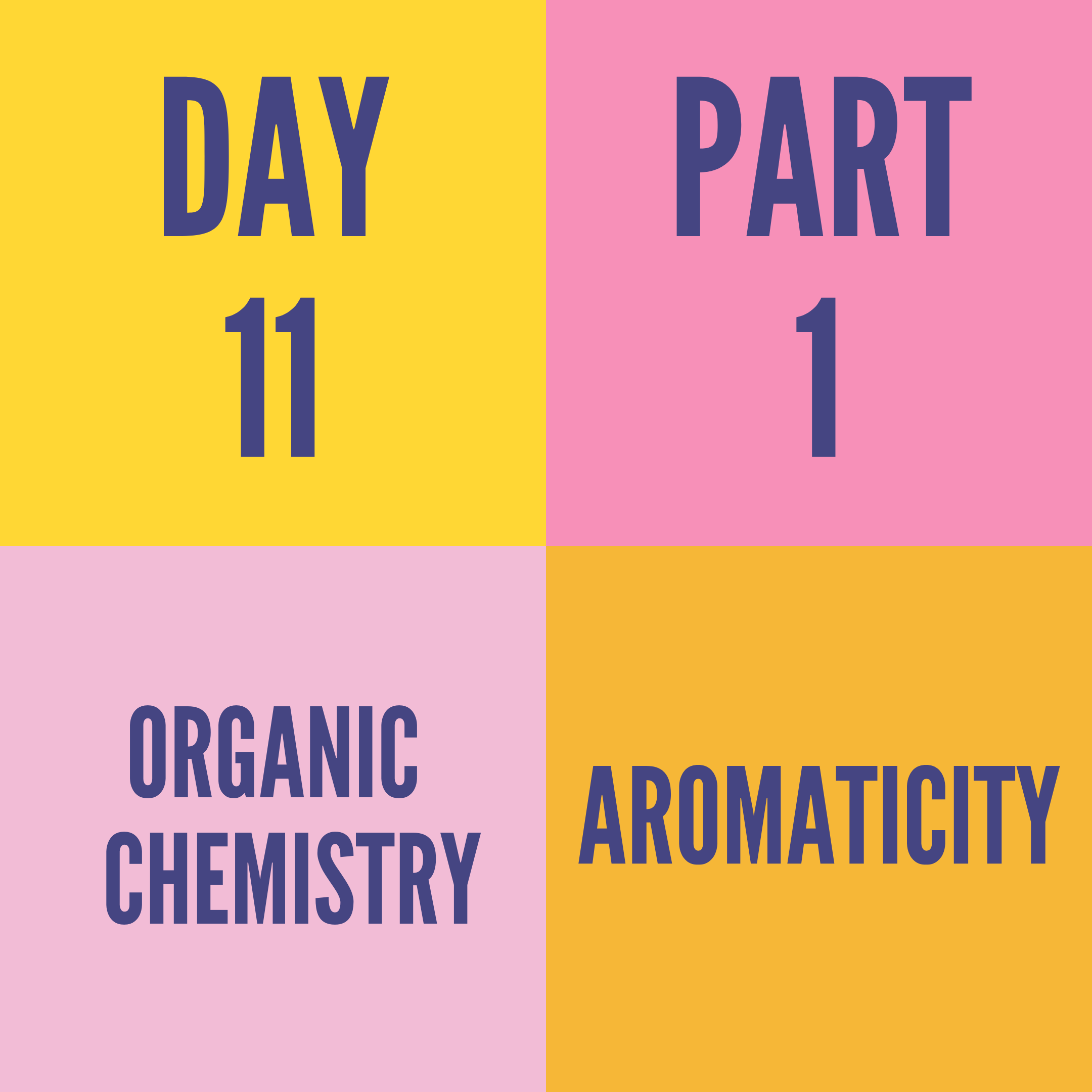 DAY-11 PART-1 AROMATICITY