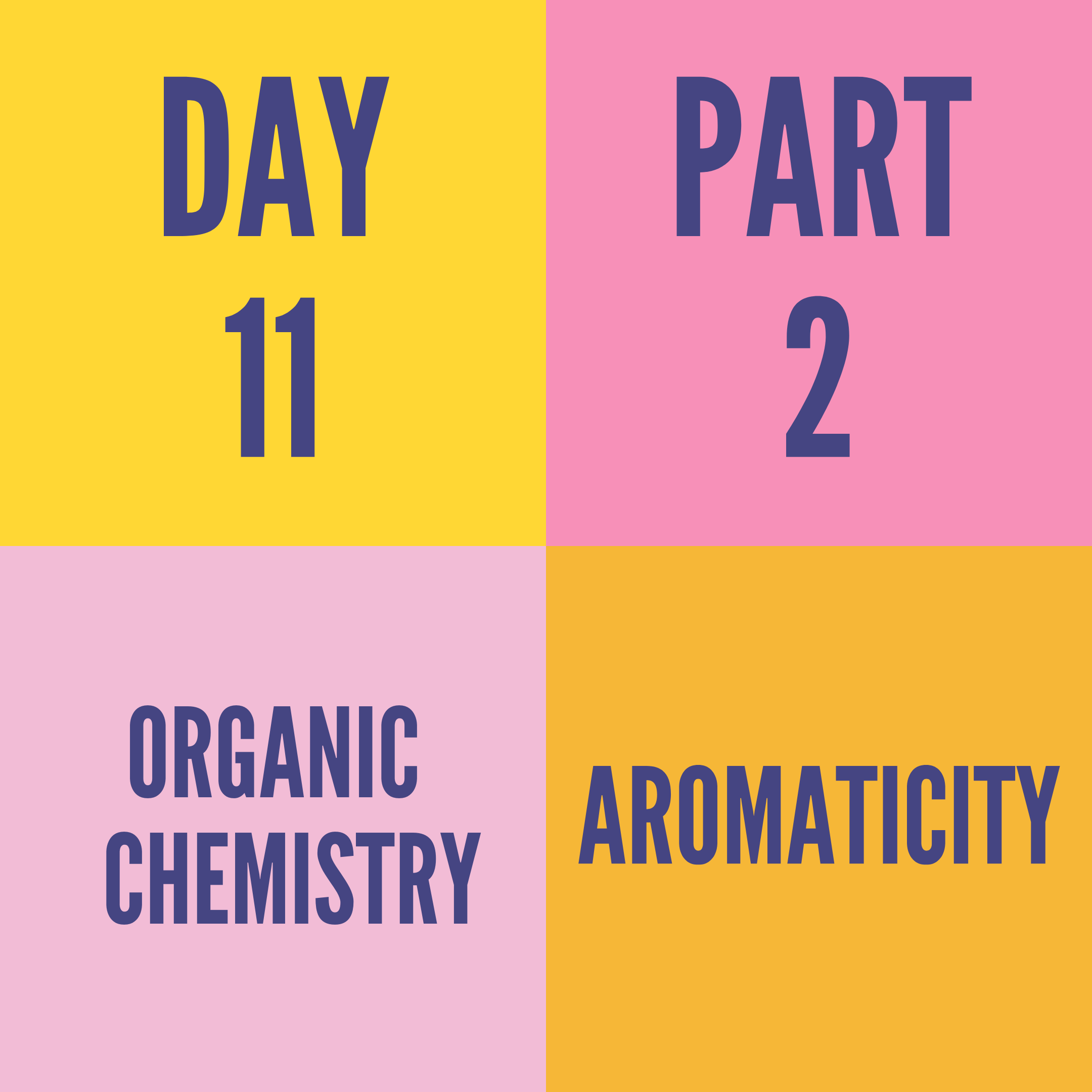 DAY-11 PART-2 AROMATICITY
