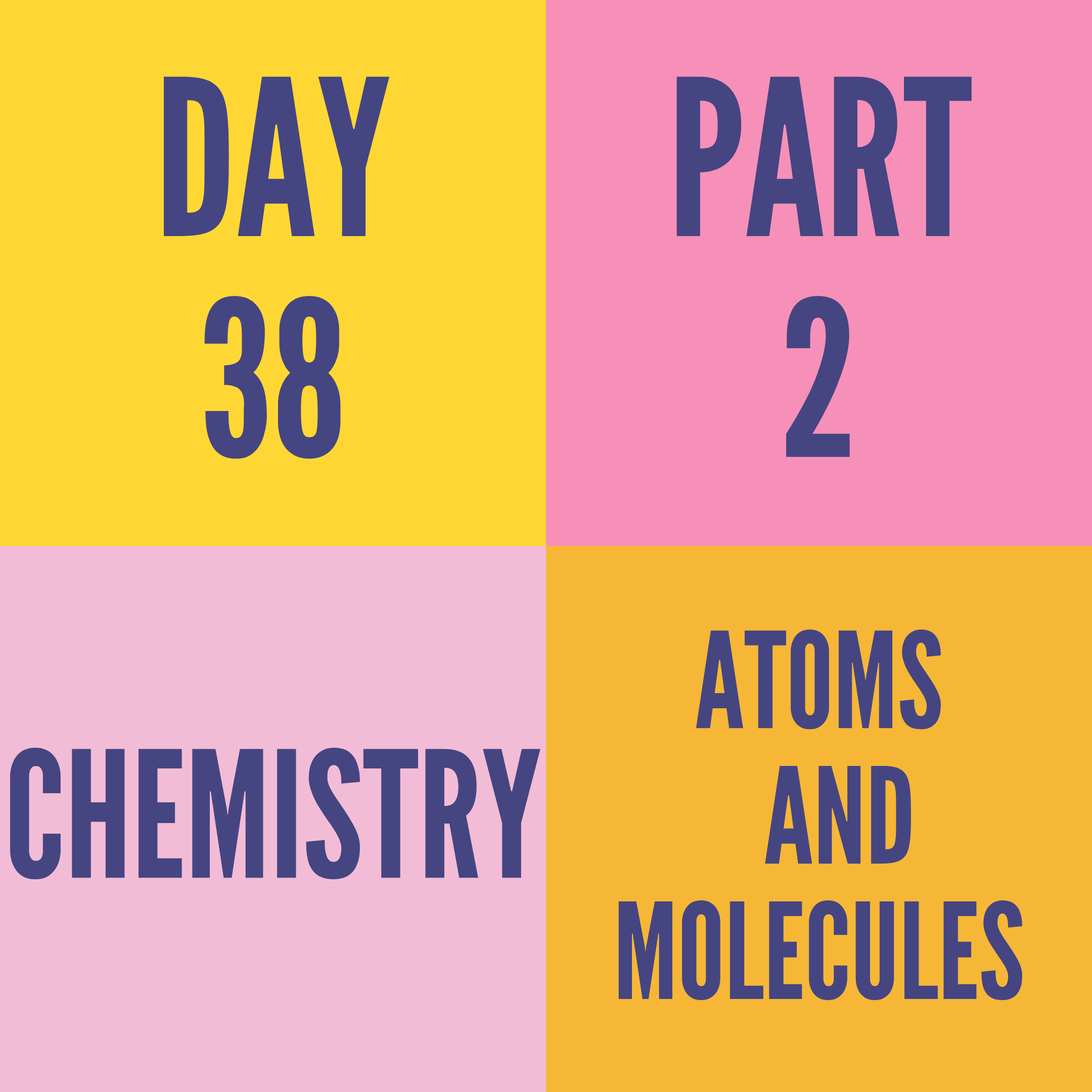 DAY-38 PART-2 ATOMS AND MOLECULES