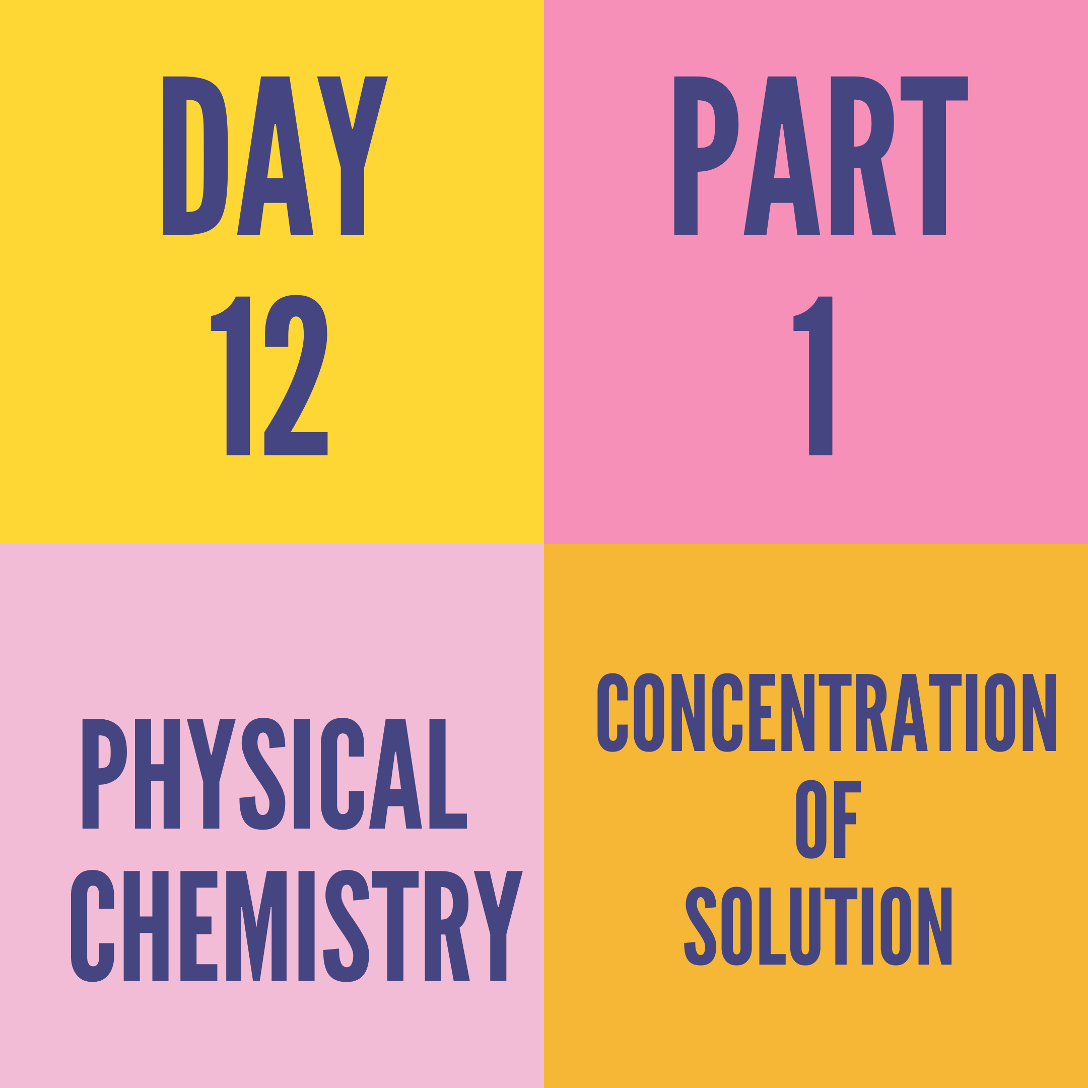 DAY-12 PART-1 CONCENTRATION OF SOLUTION
