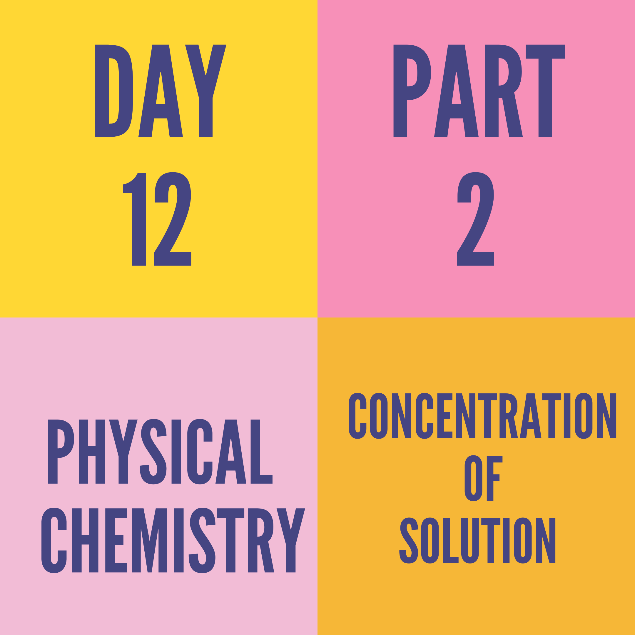 DAY-12 PART-2 CONCENTRATION OF SOLUTION