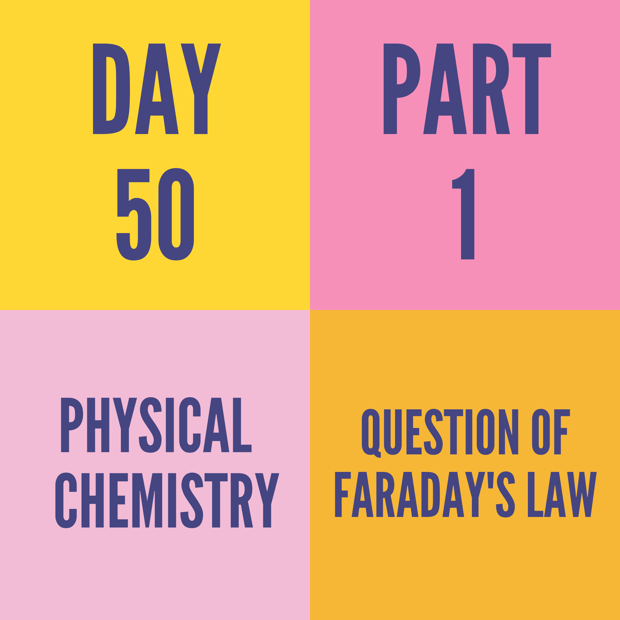 DAY-50 PART-1 QUESTION OF FARADAY'S LAW
