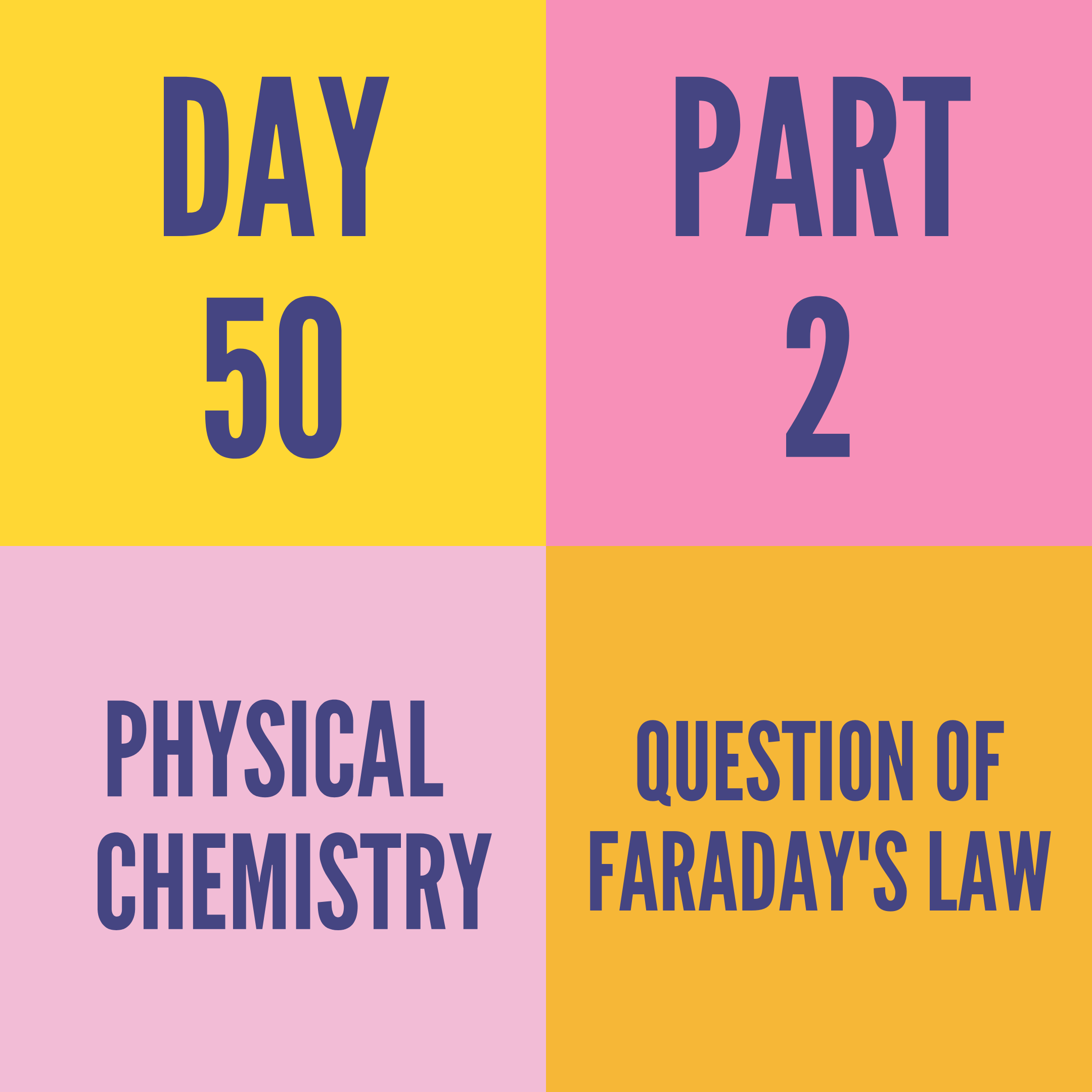 DAY-50 PART-2 QUESTION OF FARADAY'S LAW