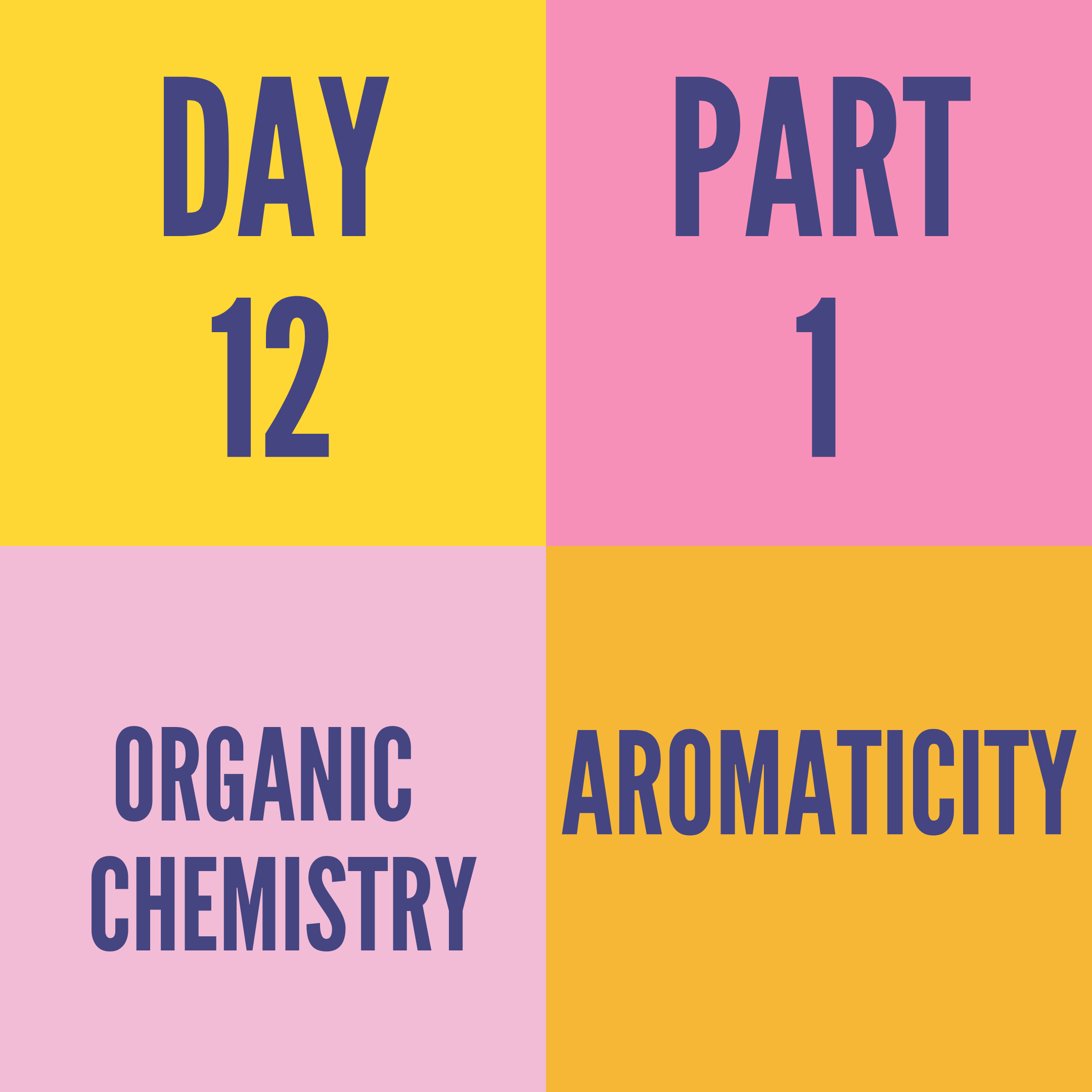 DAY-12 PART-1 AROMATICITY